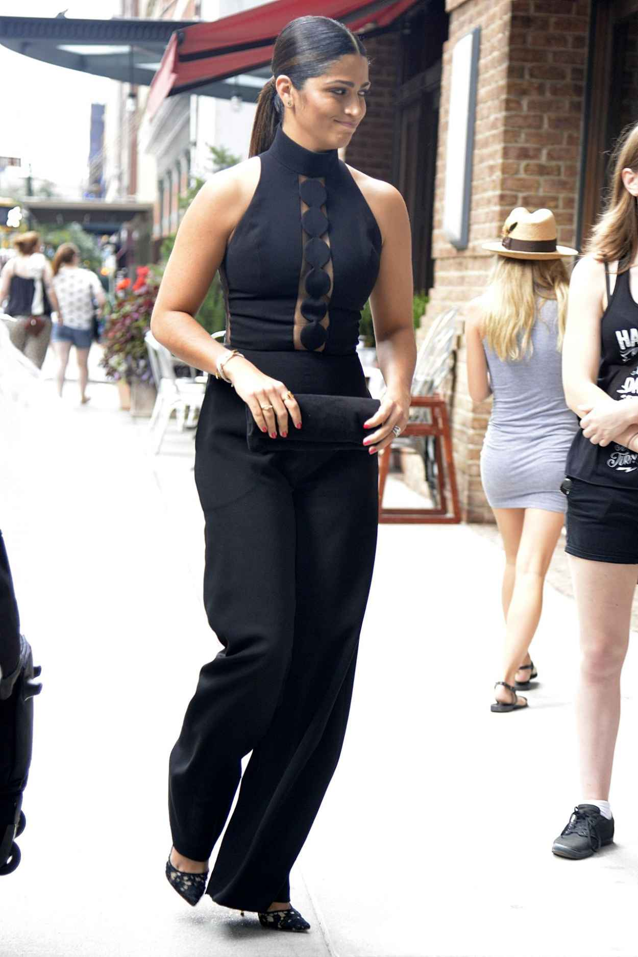 Camila Alves Street Fashion Out In Nyc September 2015