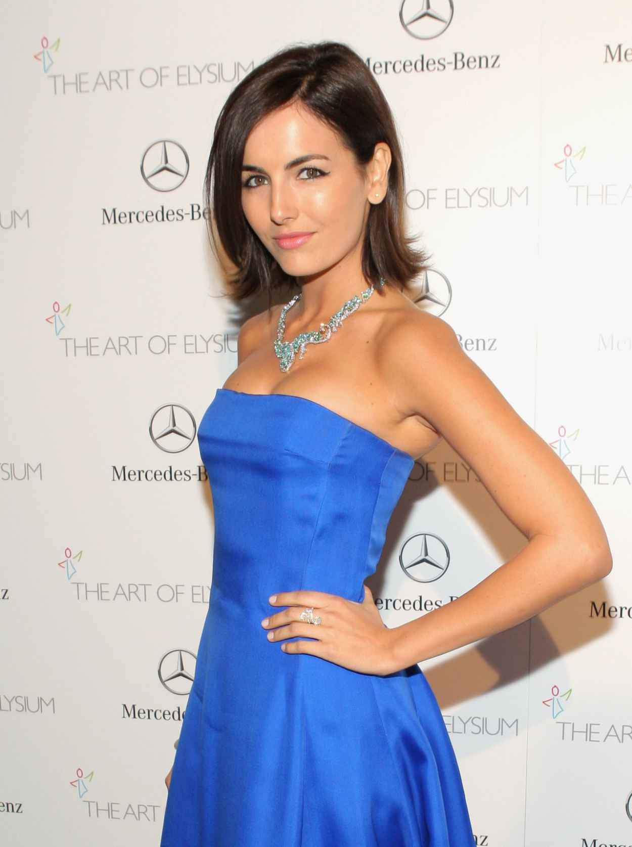 Camilla Belle Wears Ralph Lauren at The Art of Elysium HEAVEN Gala in Los Angeles 2015-1