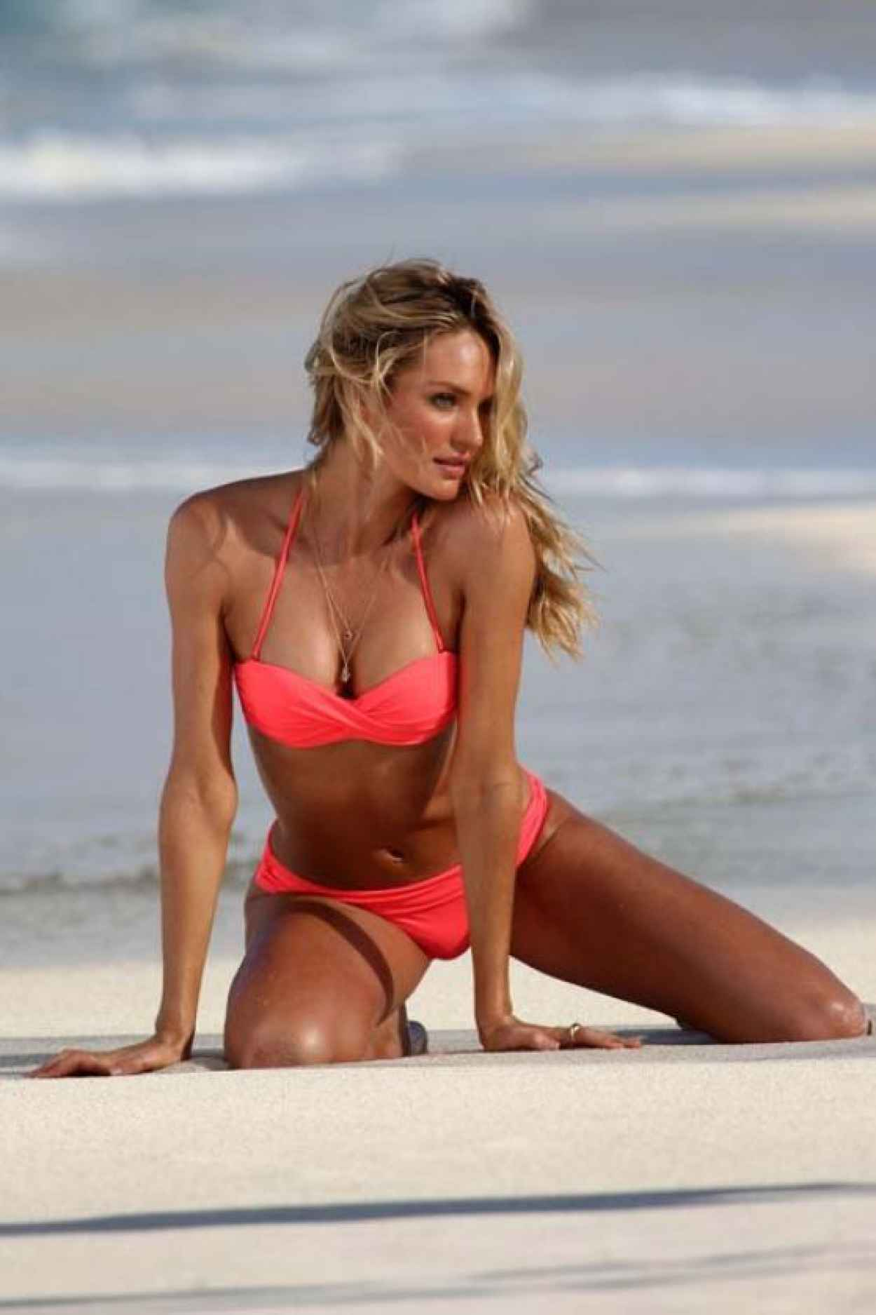 Candice Swanepoel Bikini Photoshoot - Victoria Secret Swim Shoot in St. Barts - Part II-1