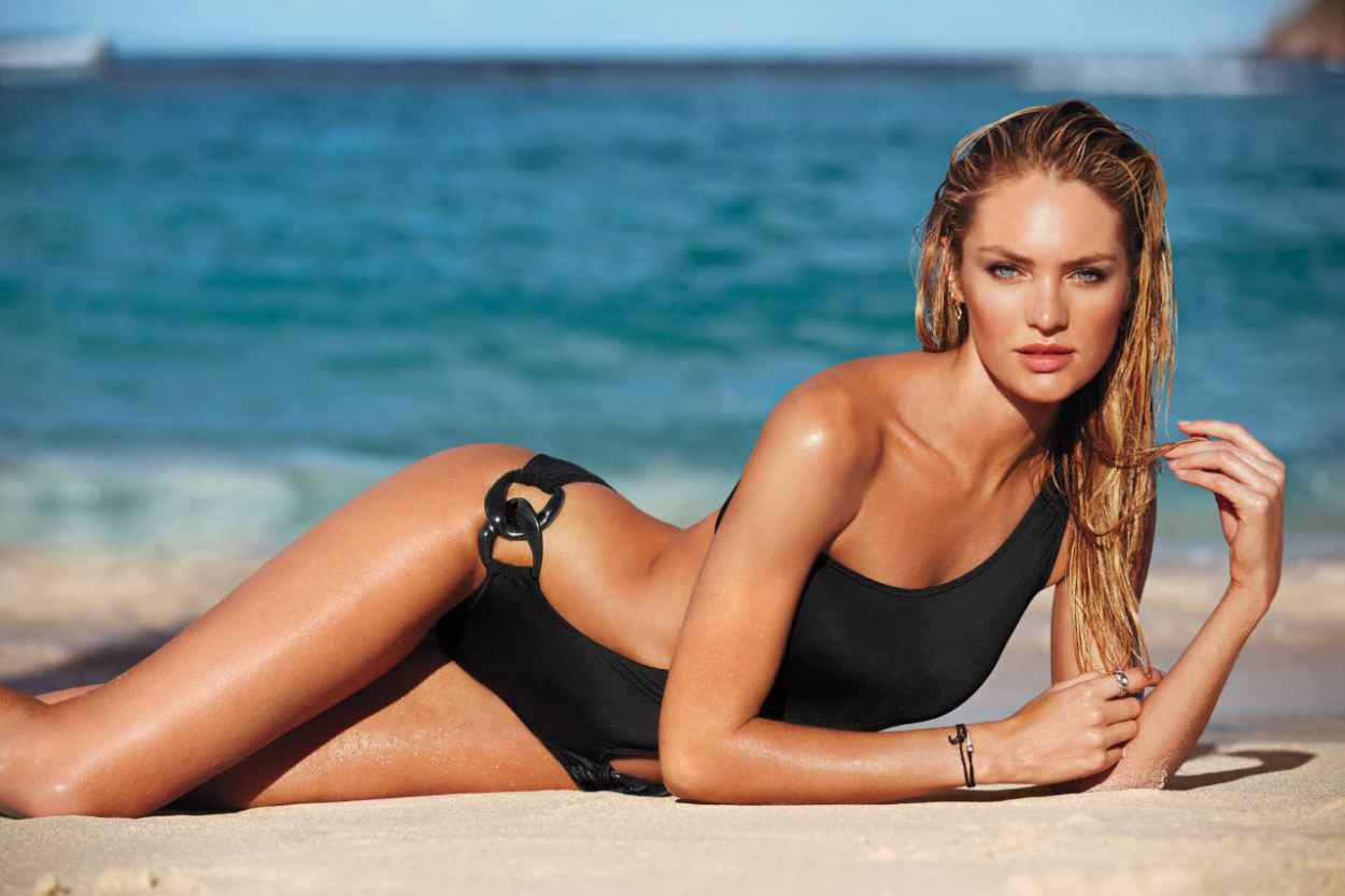 Candice Swanepoel - VS Launches 2015 New! Swim Collection-1