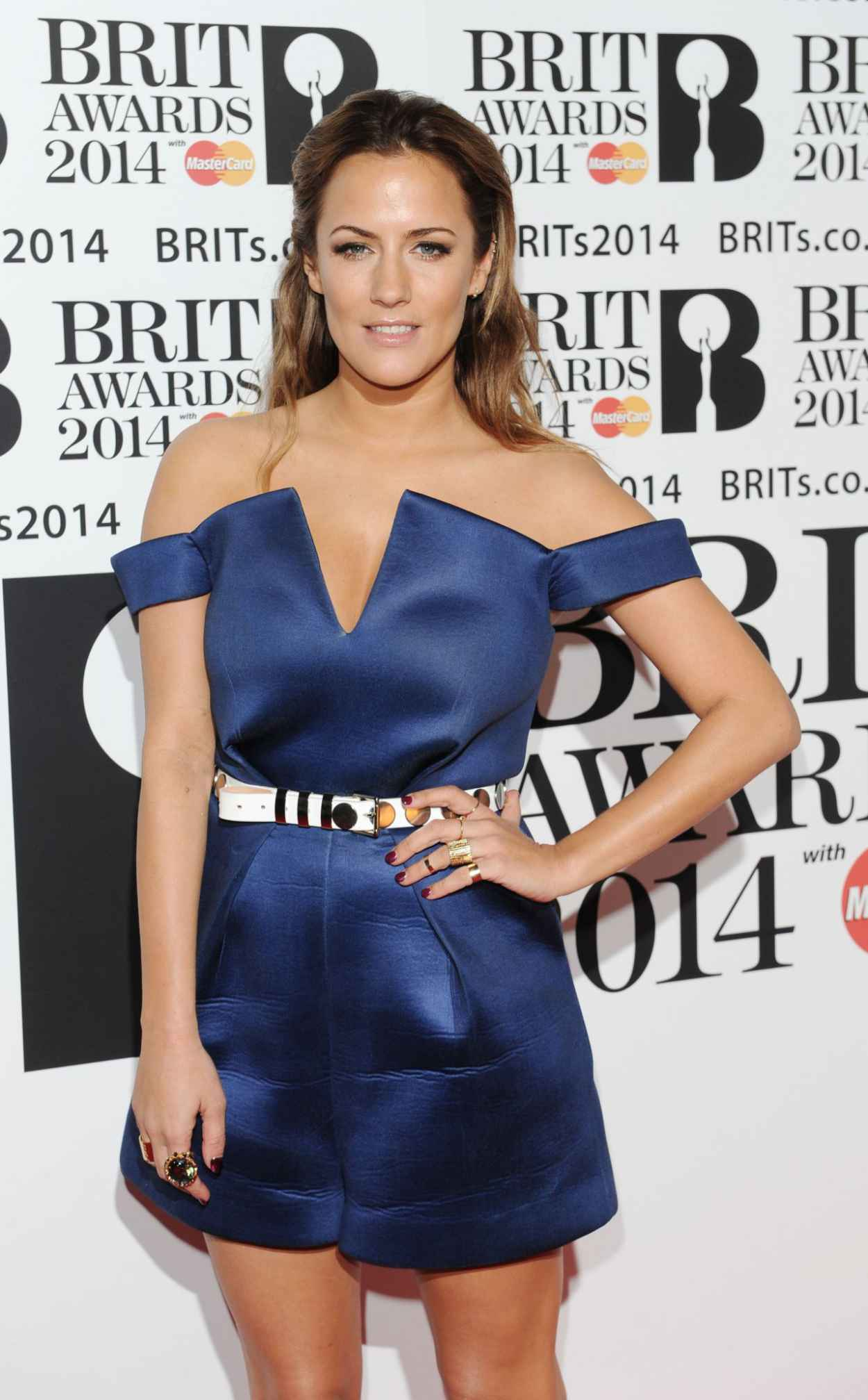 Caroline Flack - The BRIT Awards 2015 at the 02 Arena in London-1