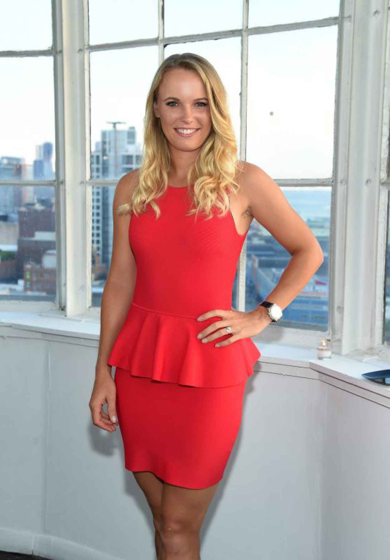 Caroline Wozniacki - Players Tribune Party to celebrate Women in Sports and the 2015 U.S. Open in New York City-1