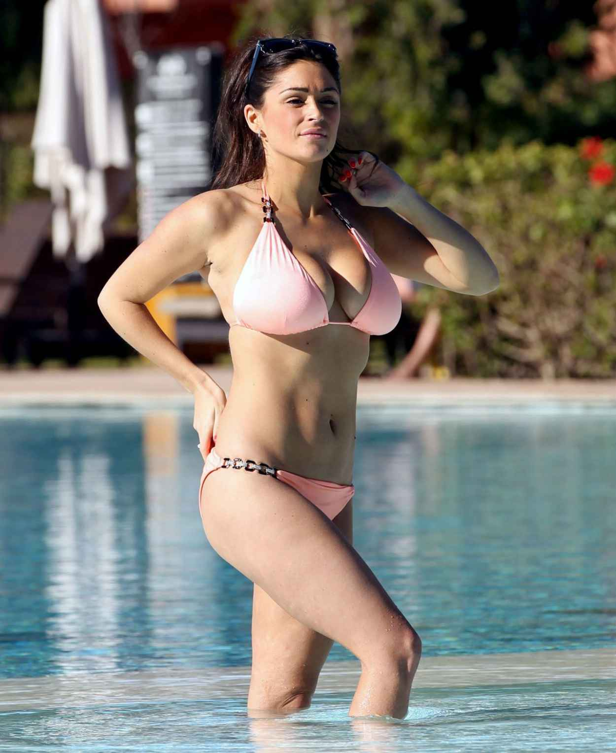 Casey Batchelor in a Bikini on the pool in Lanzarote Pic 31 of 35