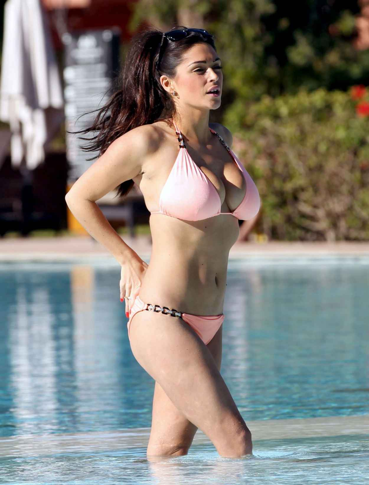 Casey Batchelor in a Bikini on the pool in Lanzarote Pic 3 of 35