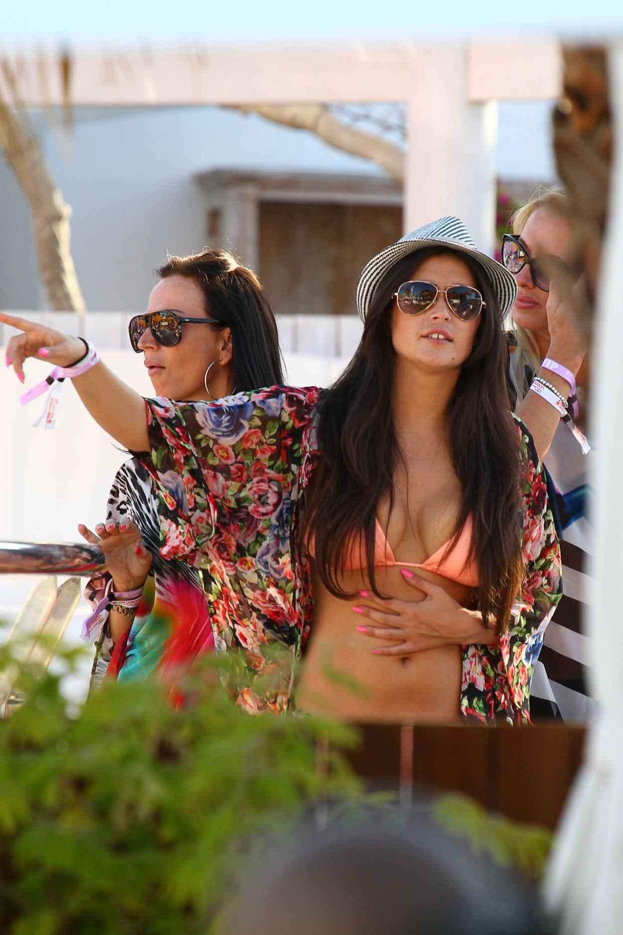 Casey Batchelor in a Bikini Top at Ocean Beach in Ibiza - June 2015-3