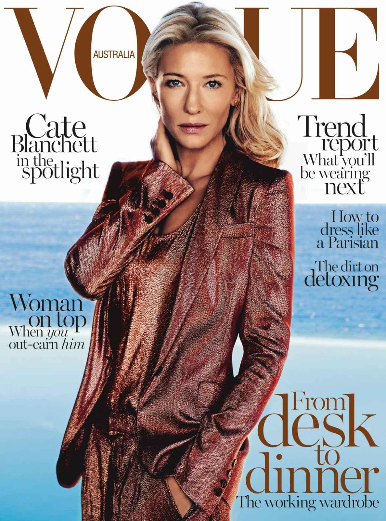 Cate Blanchett - VOGUE Magazine (Australia) - February 2015 Cover-1