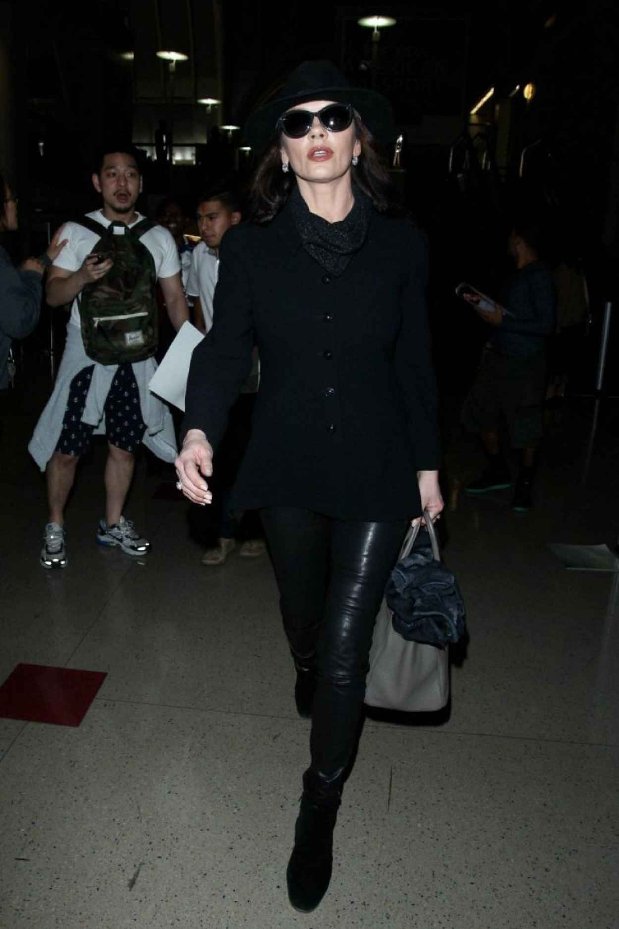 Catherine Zeta Jones - at LAX Airport, January 2015-3