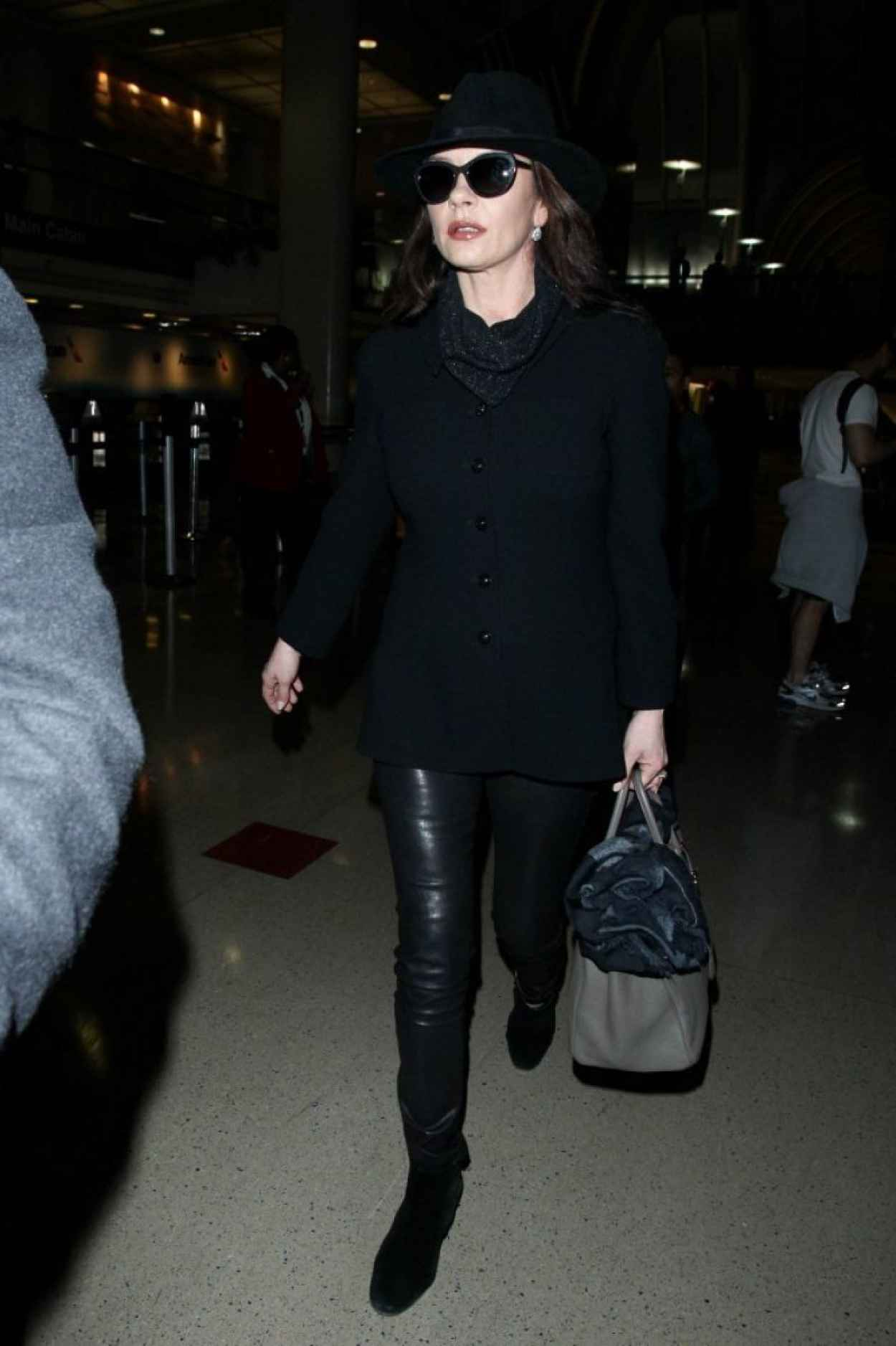 Catherine Zeta Jones - at LAX Airport, January 2015-4