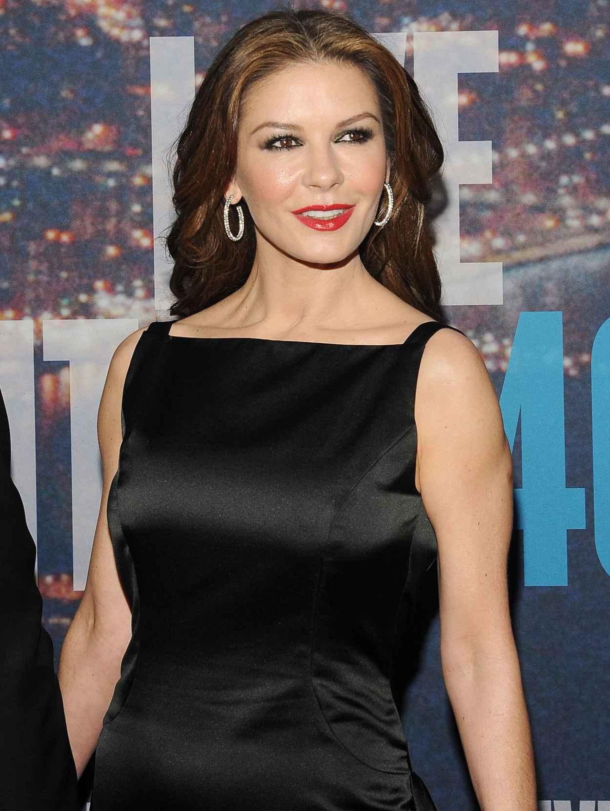 Catherine Zeta-Jones - SNL 40th Anniversary Celebration in New York City-5