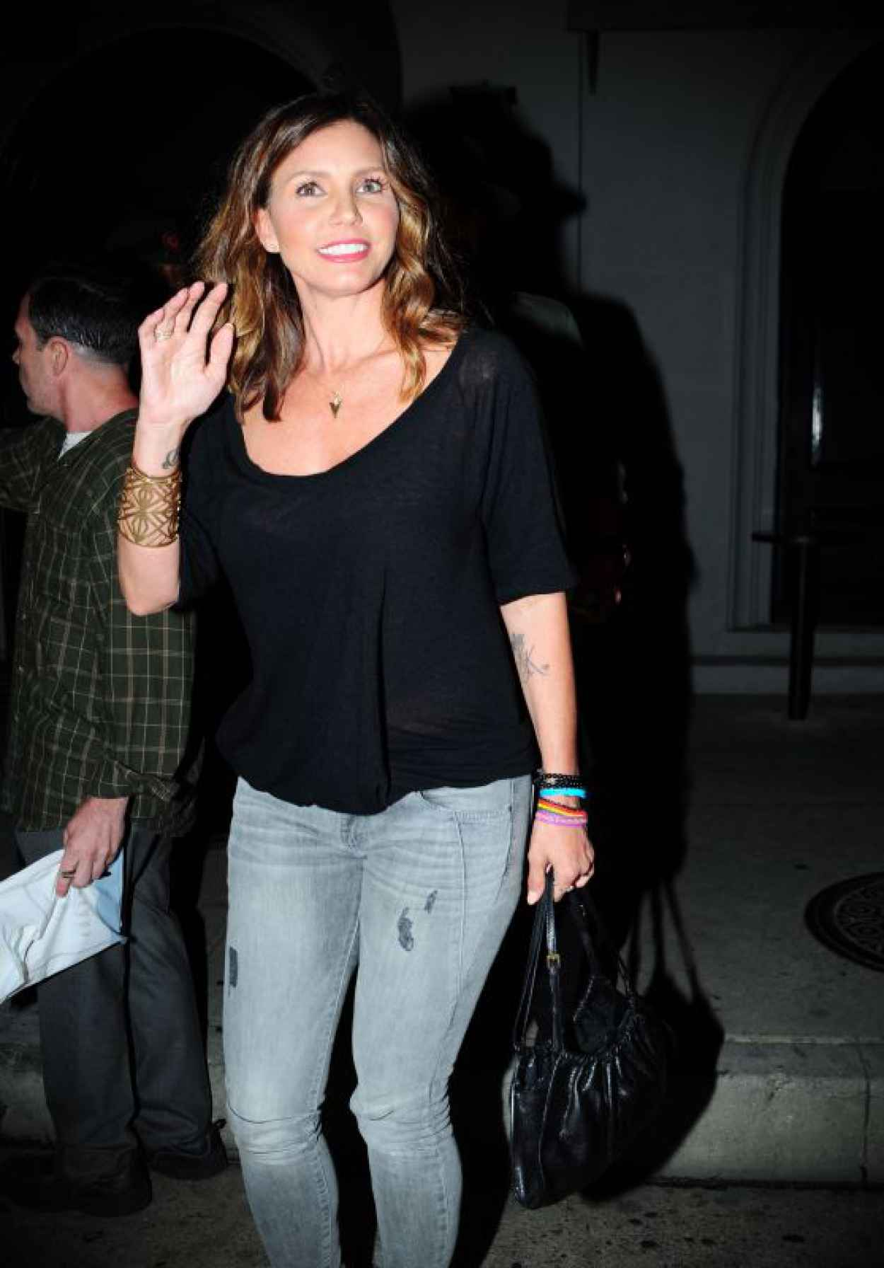 Charisma Carpenter - Leaving Craigs on Melrose Avenue , West Hollywood, August 2015-1