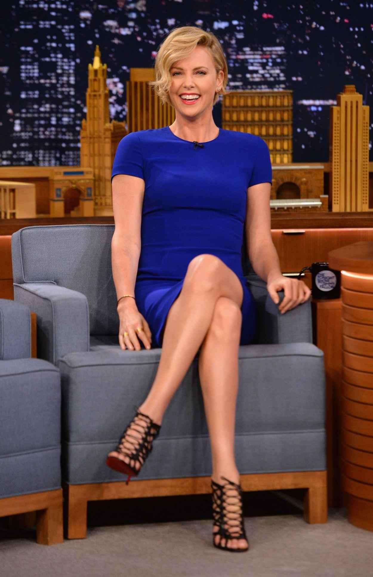 Charlize Theron at The Tonight Show Starring Jimmy Fallon - May 2015-1