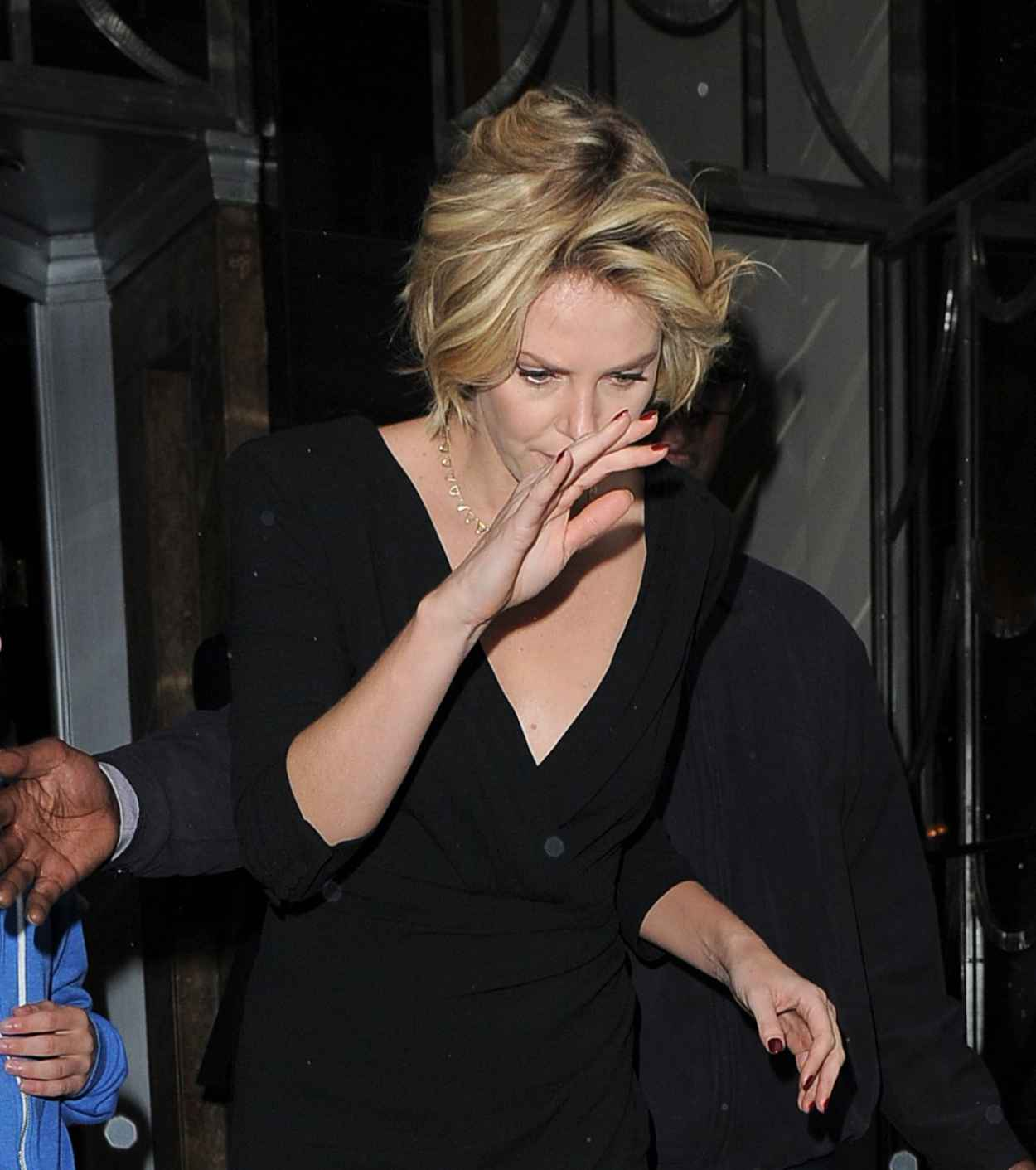 Charlize Theron in London - Outside Her Hotel - May 2015-1