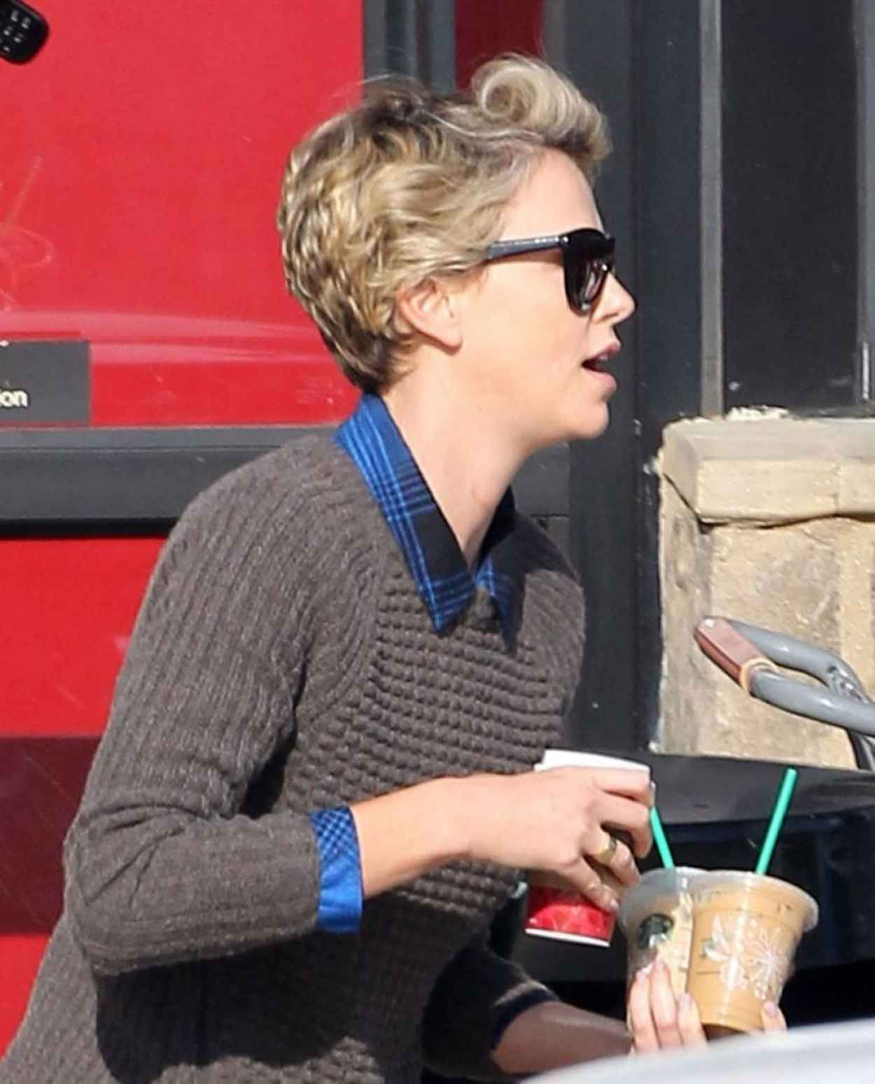 Charlize Theron Street Style - Out in LA, January 2015-4