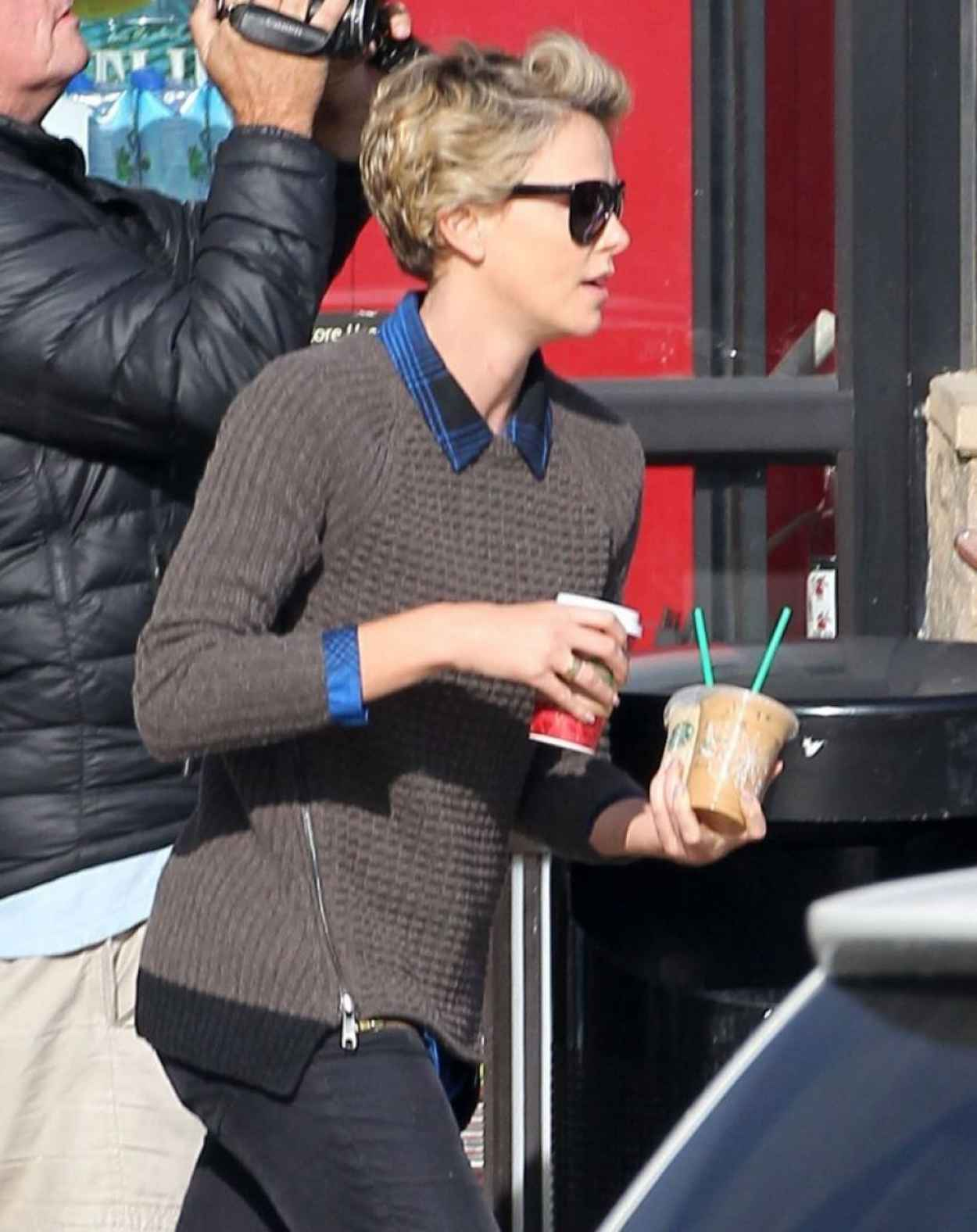 Charlize Theron Street Style - Out in LA, January 2015-5