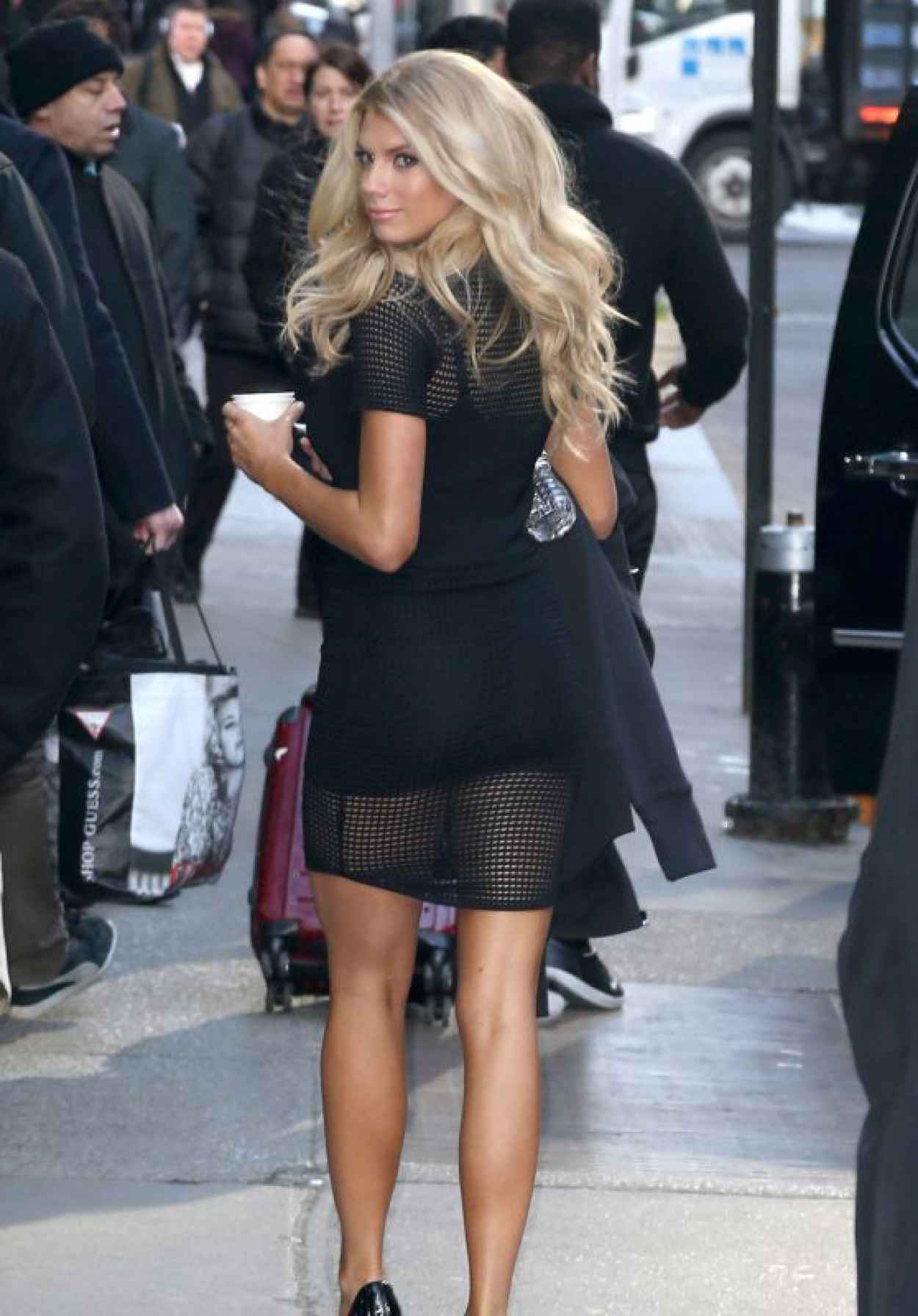 Charlotte McKinney - Arriving to Appear on Good Morning America in NYC, March 2015-1