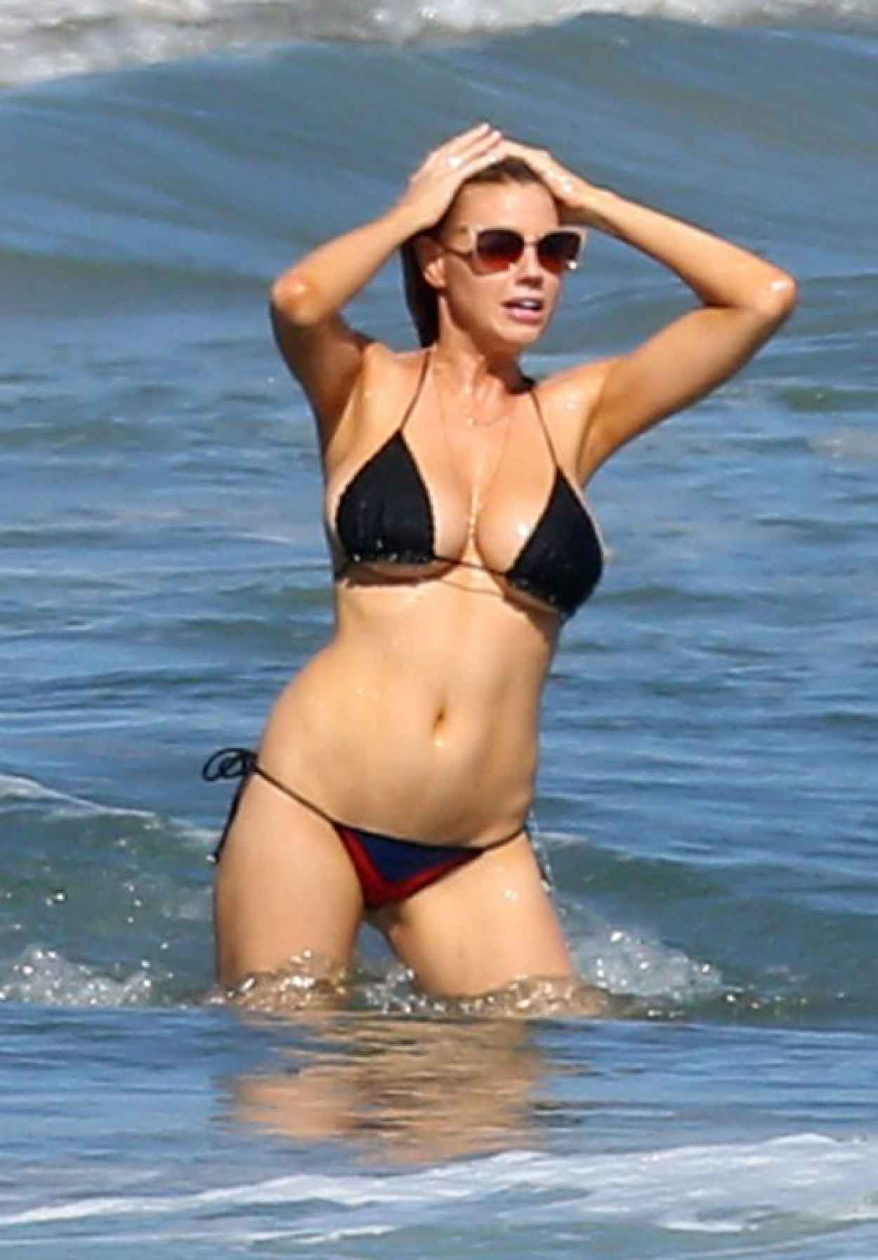 Charlotte McKinney in Bikini on a Beach in Malibu, August 2015-1