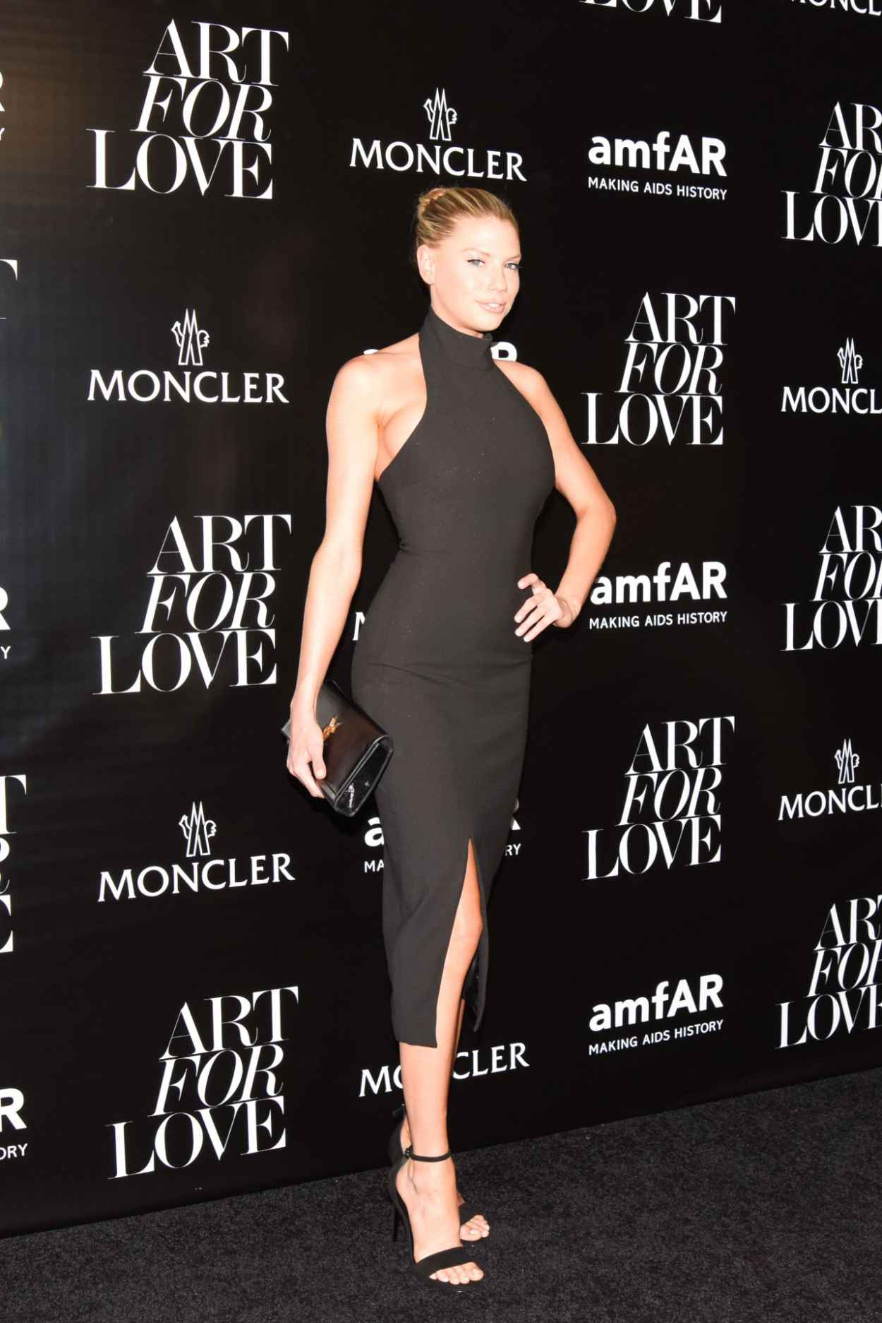 Charlotte McKinney - Moncler & amfAR Celebrate Art For Love in NYC, September 2015-2