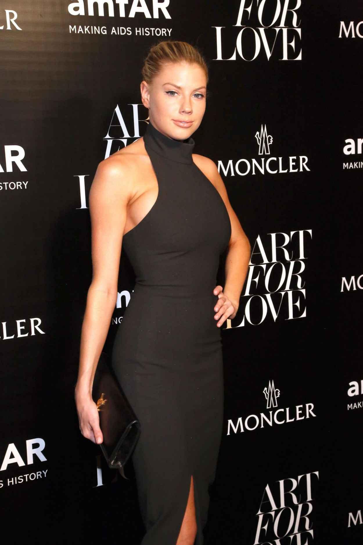 Charlotte McKinney - Moncler & amfAR Celebrate Art For Love in NYC, September 2015-4