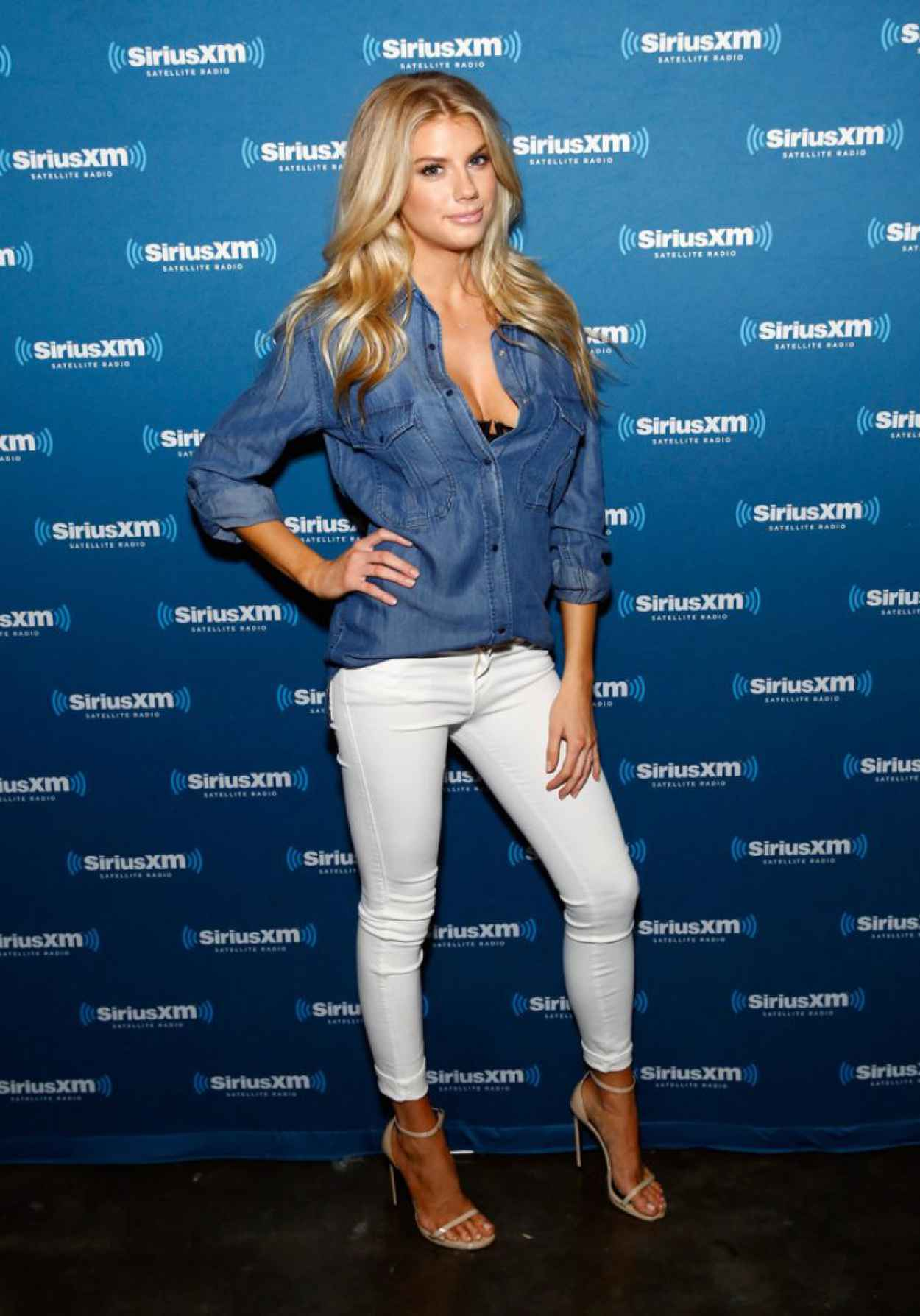 Charlotte McKinney - SiriusXM at Super Bowl XLIX Radio Row in Phoenix, January 2015-1