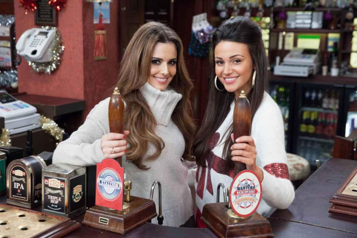 Cheryl Cole and Michelle Keegan - Coronation Street Set - ITV Studios - Manchester - December 2015-1