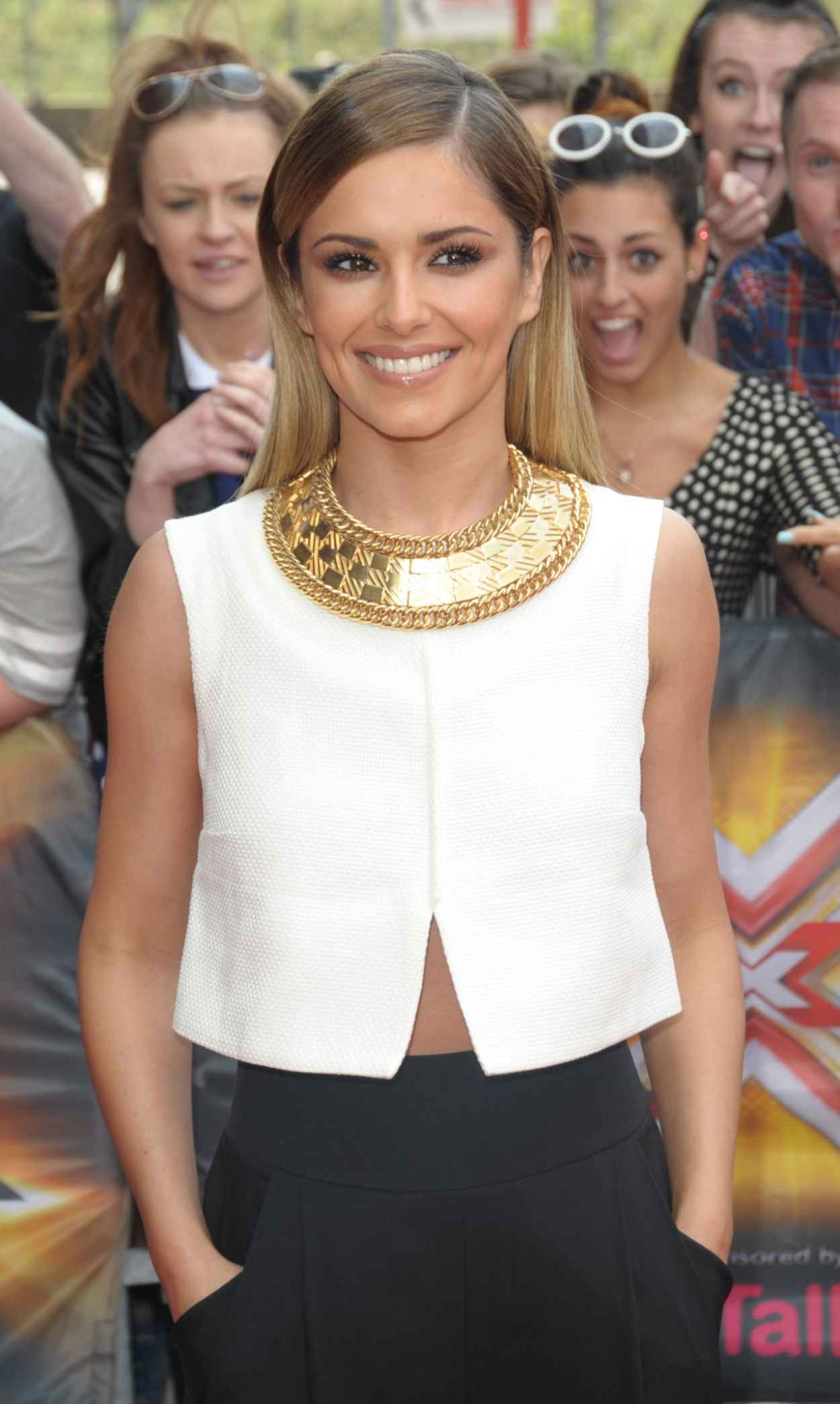 Cheryl Cole in the Monochrome Ensemble Arriving X Factor Auditions in London - June 2015-1