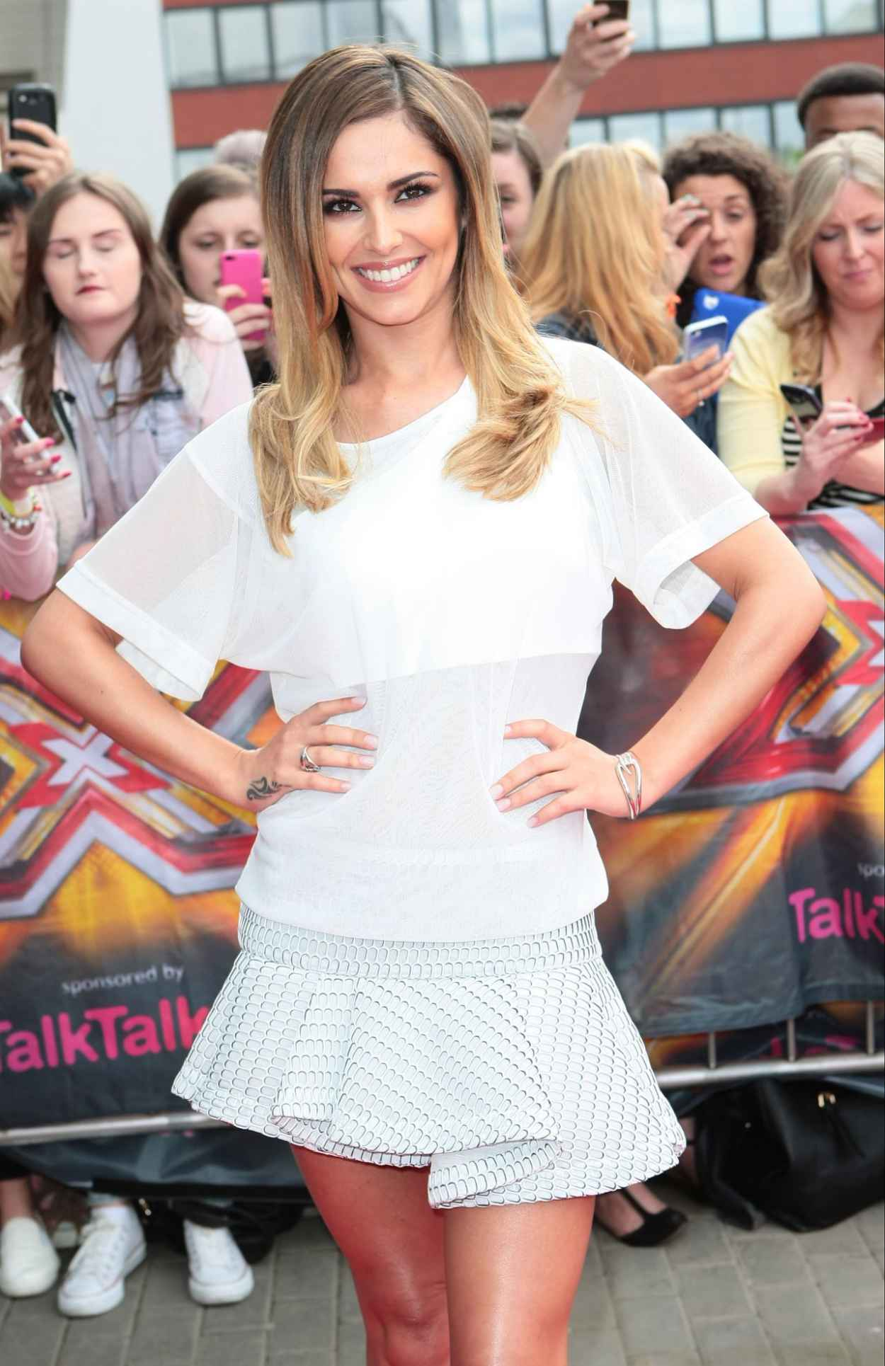 Cheryl Cole Shows off Her Legs - X Factor Auditions in Manchester - June 2015-2