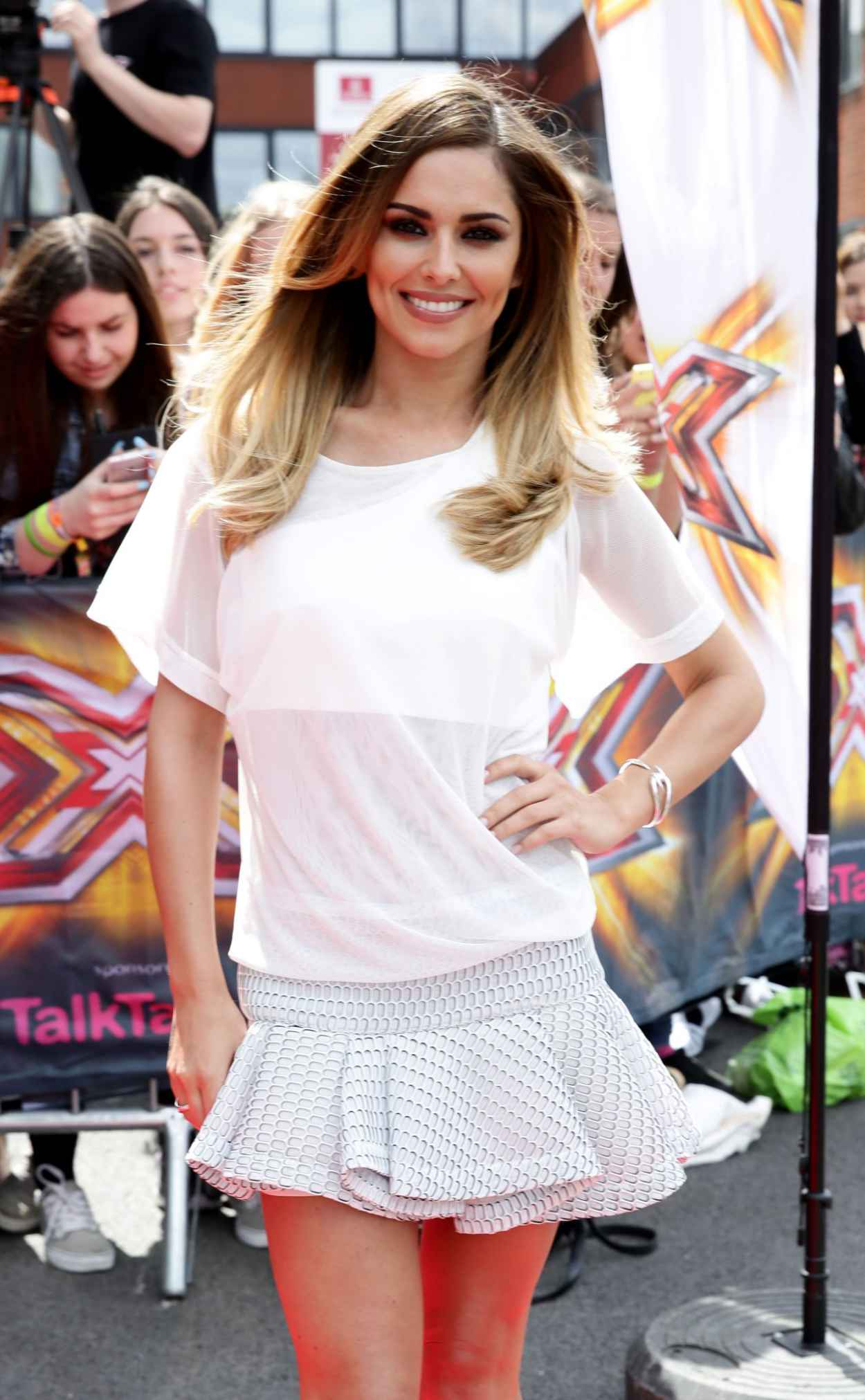 Cheryl Cole Shows off Her Legs - X Factor Auditions in Manchester - June 2015-1