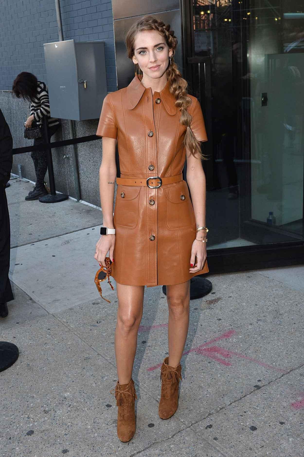 Chiara Ferragni Michael Kors Show New York Fashion Week September 2015