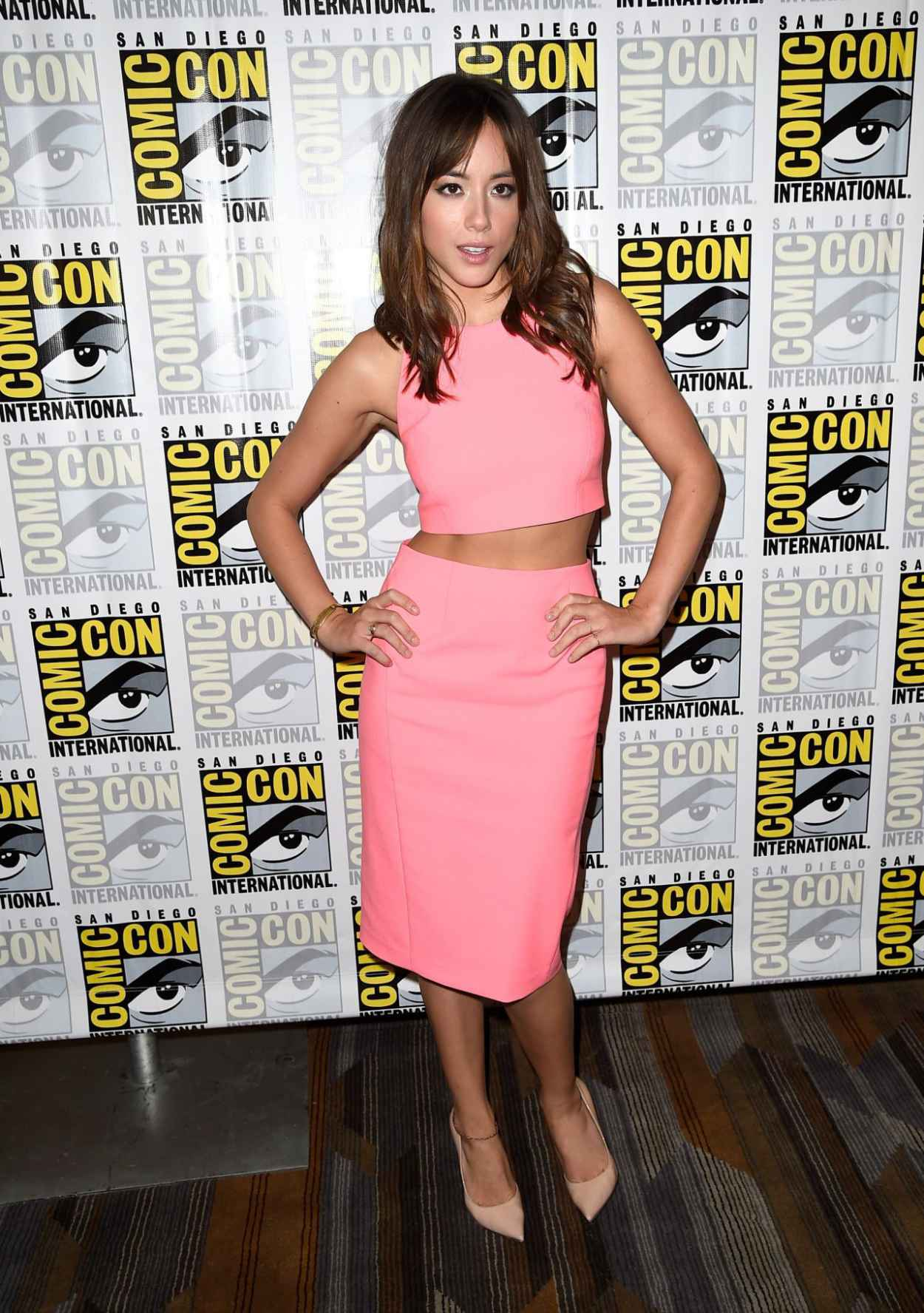Chloe Bennet - Agents of SHIELD Press Line at Comic-Con 2015 in San Diego-1