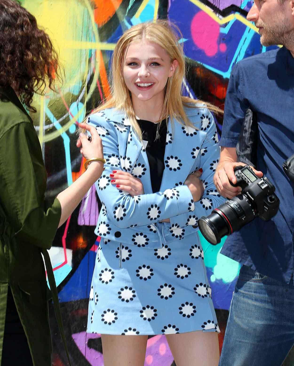 Chloe Moretz in Mini Dress on a Photoshoot in New York City - June 2015-1