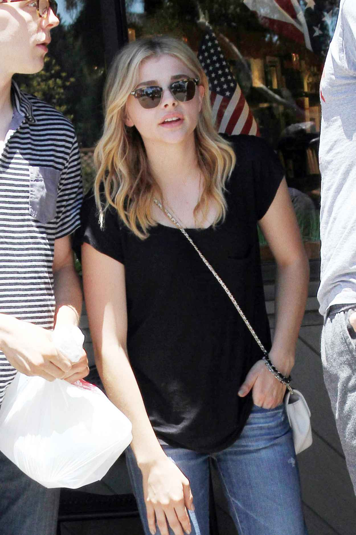Chloe Moretz Street Style - Out in LA, July 2015-1