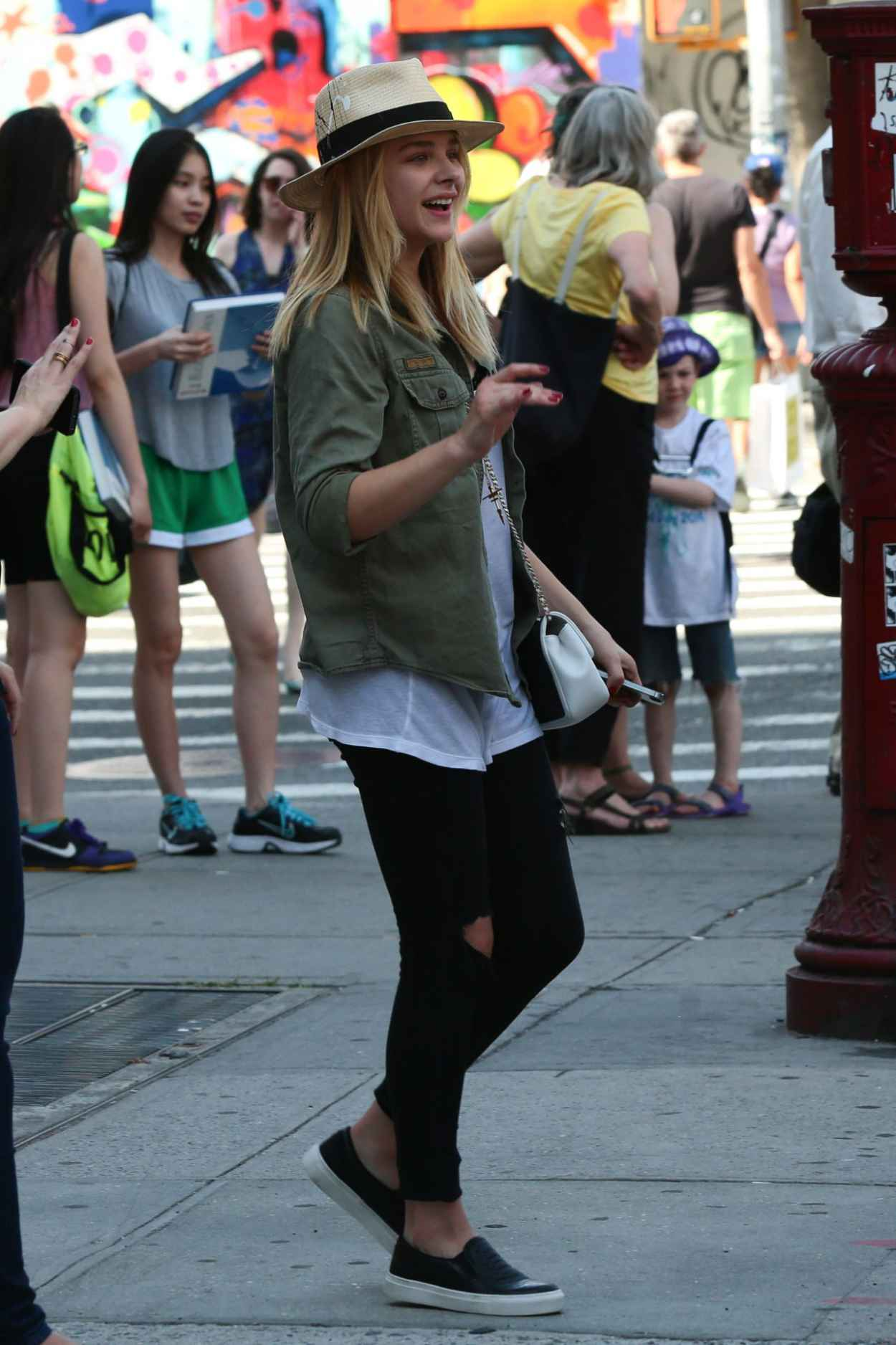 Chloe Moretz Street Style - Out in NYC - June 2015-1