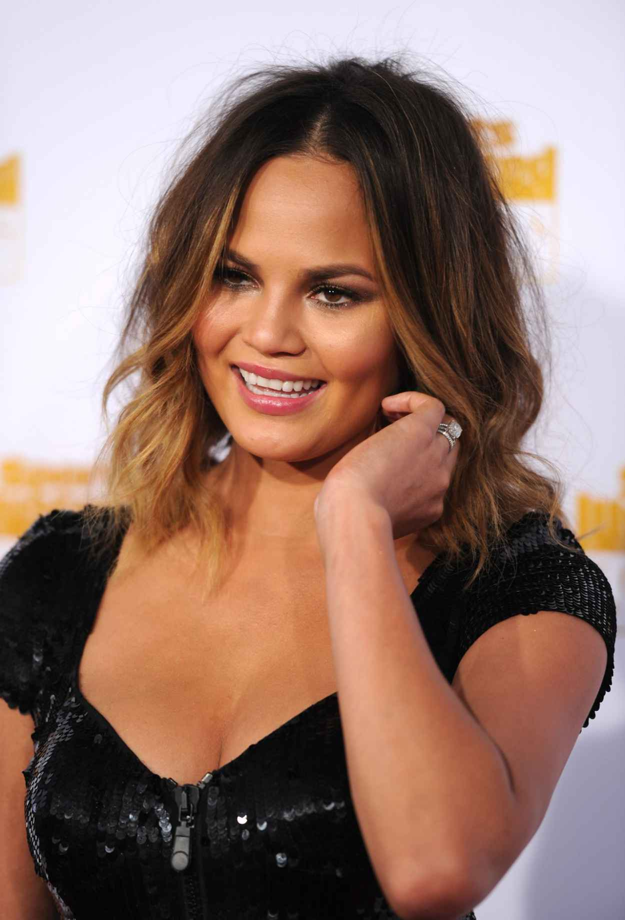 Chrissy Teigen at 50th Anniversary of the SI Swimsuit Issue in Hollywood, January 2015-1