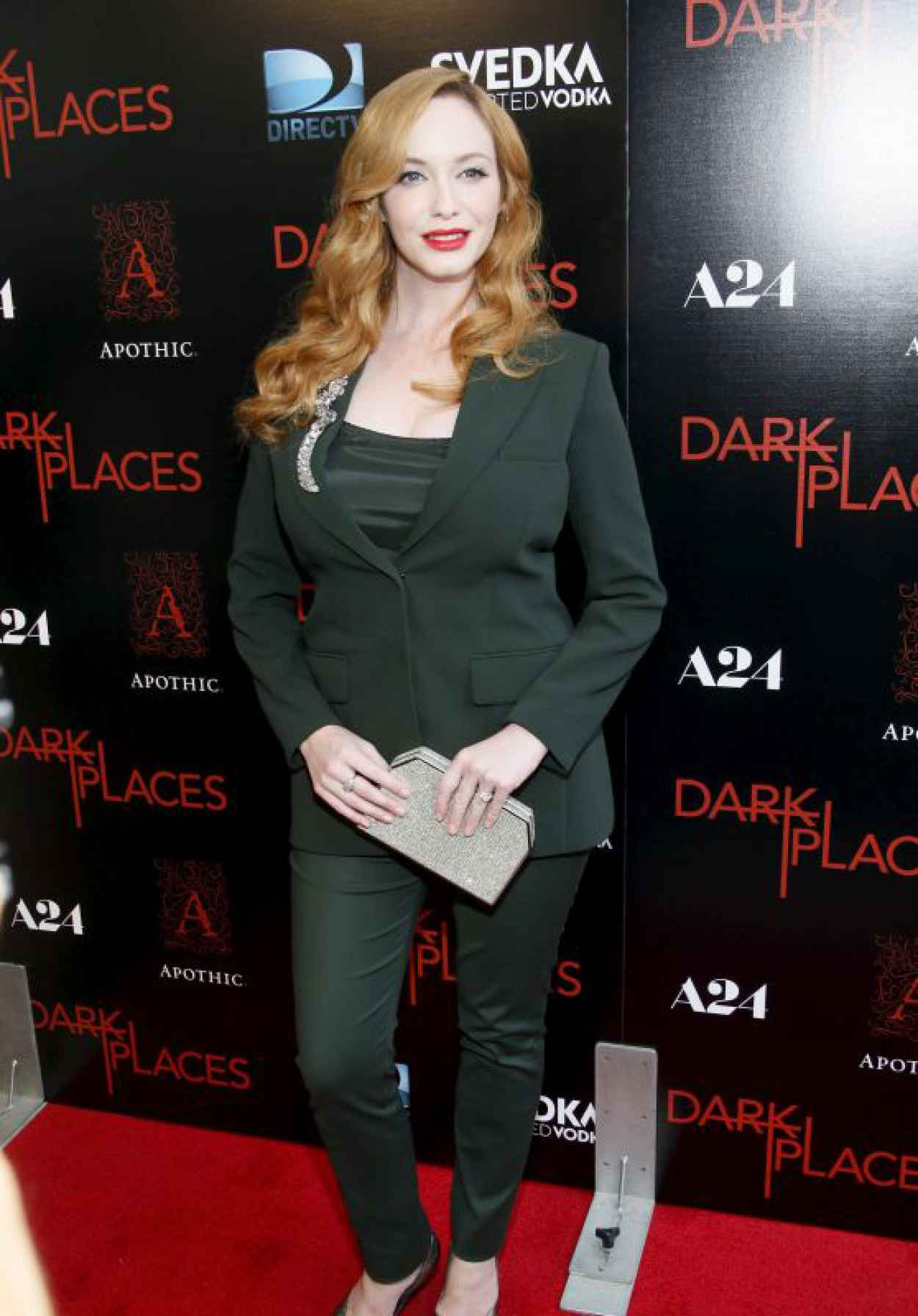Christina Hendricks - DIRECTV-s Dark Places Premiere in Los Angeles-1