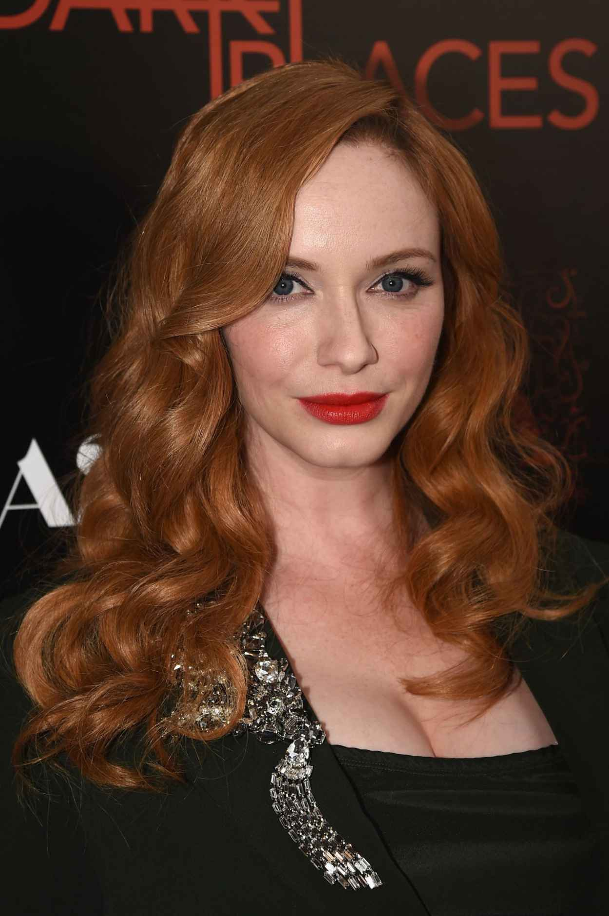 Christina Hendricks - DIRECTV-s Dark Places Premiere in Los Angeles-2