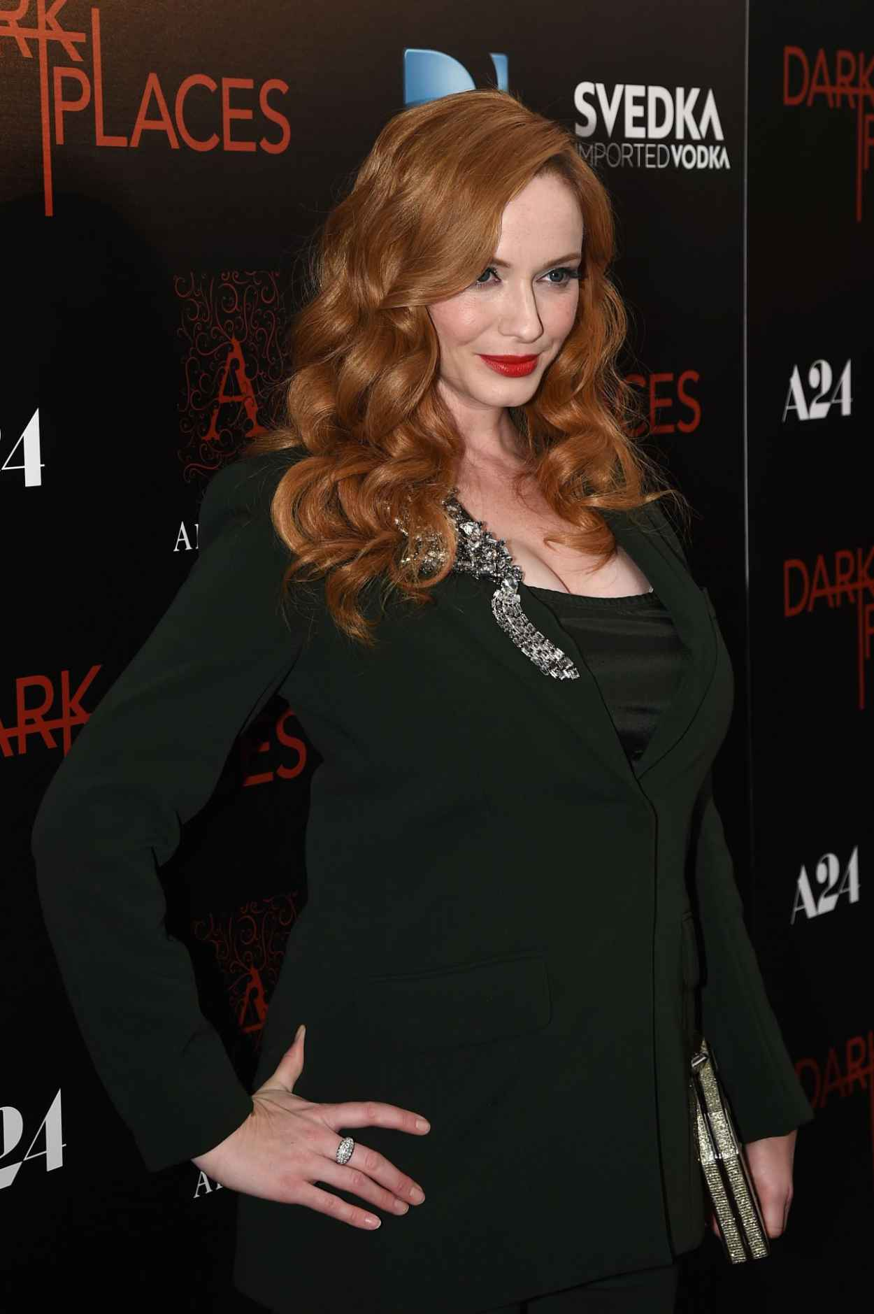 Christina Hendricks - DIRECTV-s Dark Places Premiere in Los Angeles-4