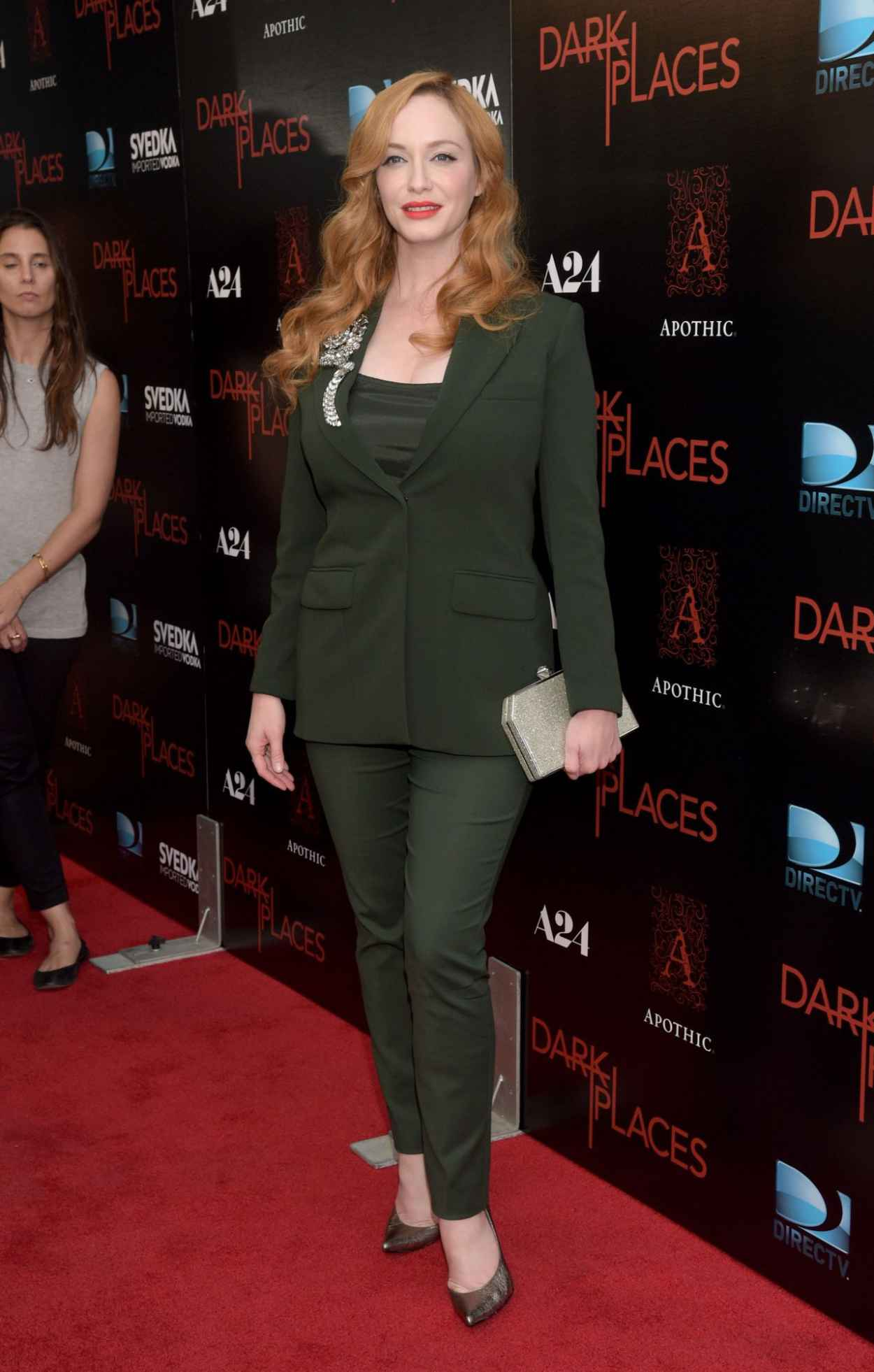 Christina Hendricks - DIRECTV-s Dark Places Premiere in Los Angeles-5