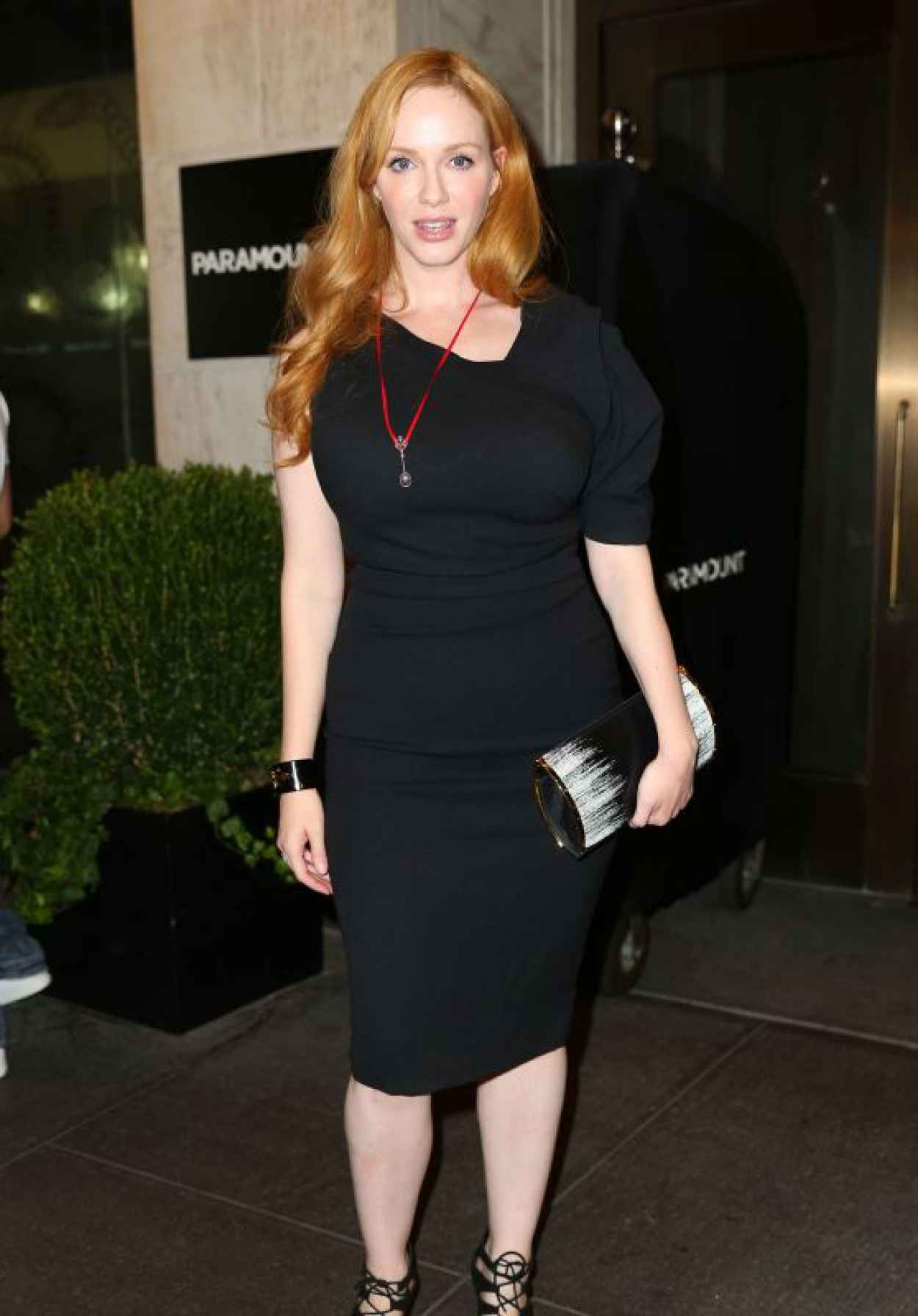 Christina Hendricks - Out to See Queen of the Night in New York, August 2015-1