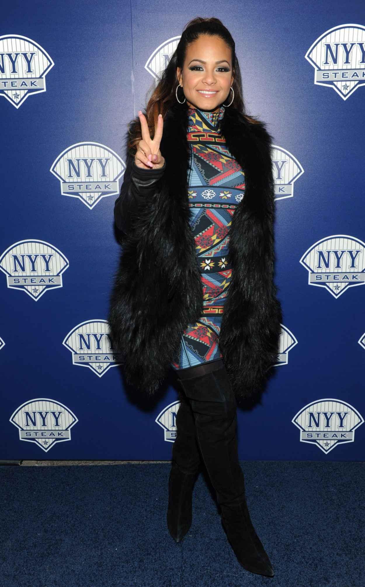 Christina Milian at NYY Steak Manhattan Grand Opening in New York-1