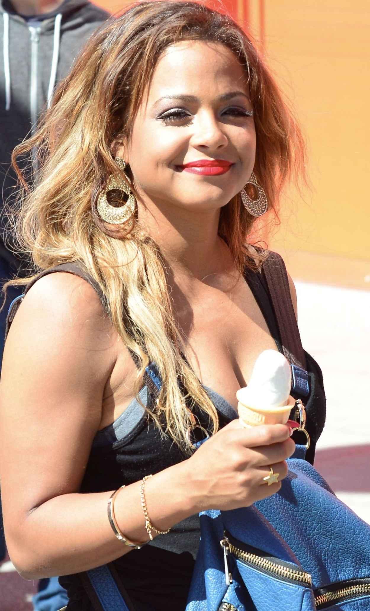 Christina Milian - Enjoying an Ice Cream on Venice Beach, Los Angeles - April 2015-1