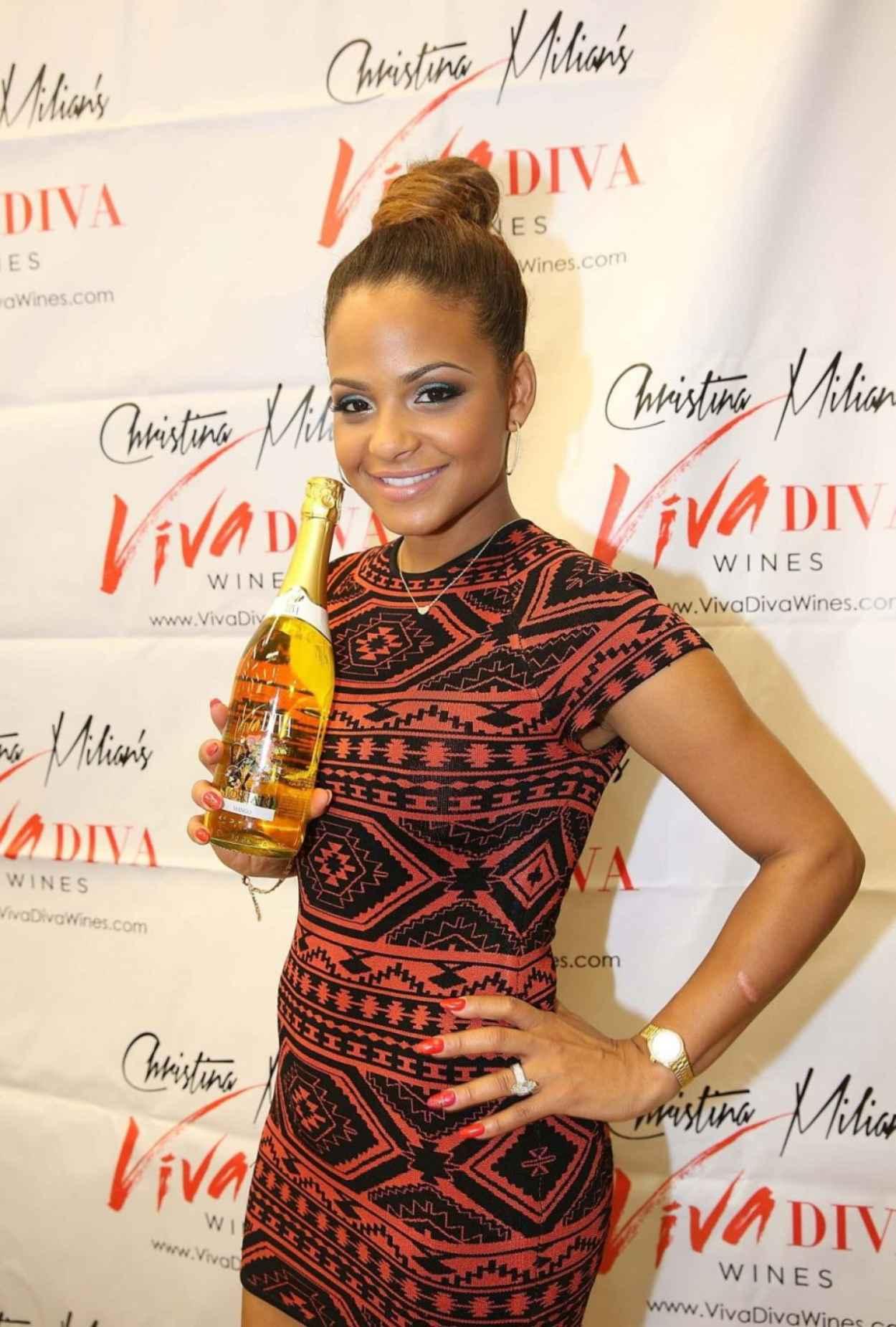 Christina Milian - Viva Diva Wine Signing - Miami December 2015-1