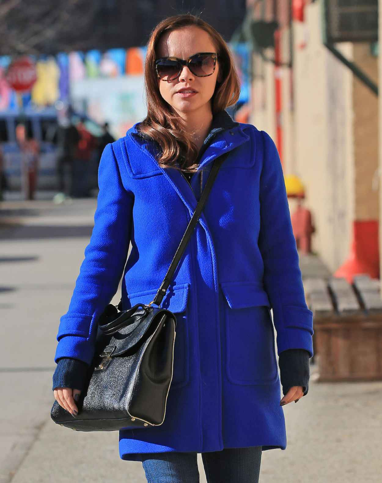 Christina Ricci Street Style - Out in New York City, January 2015-1