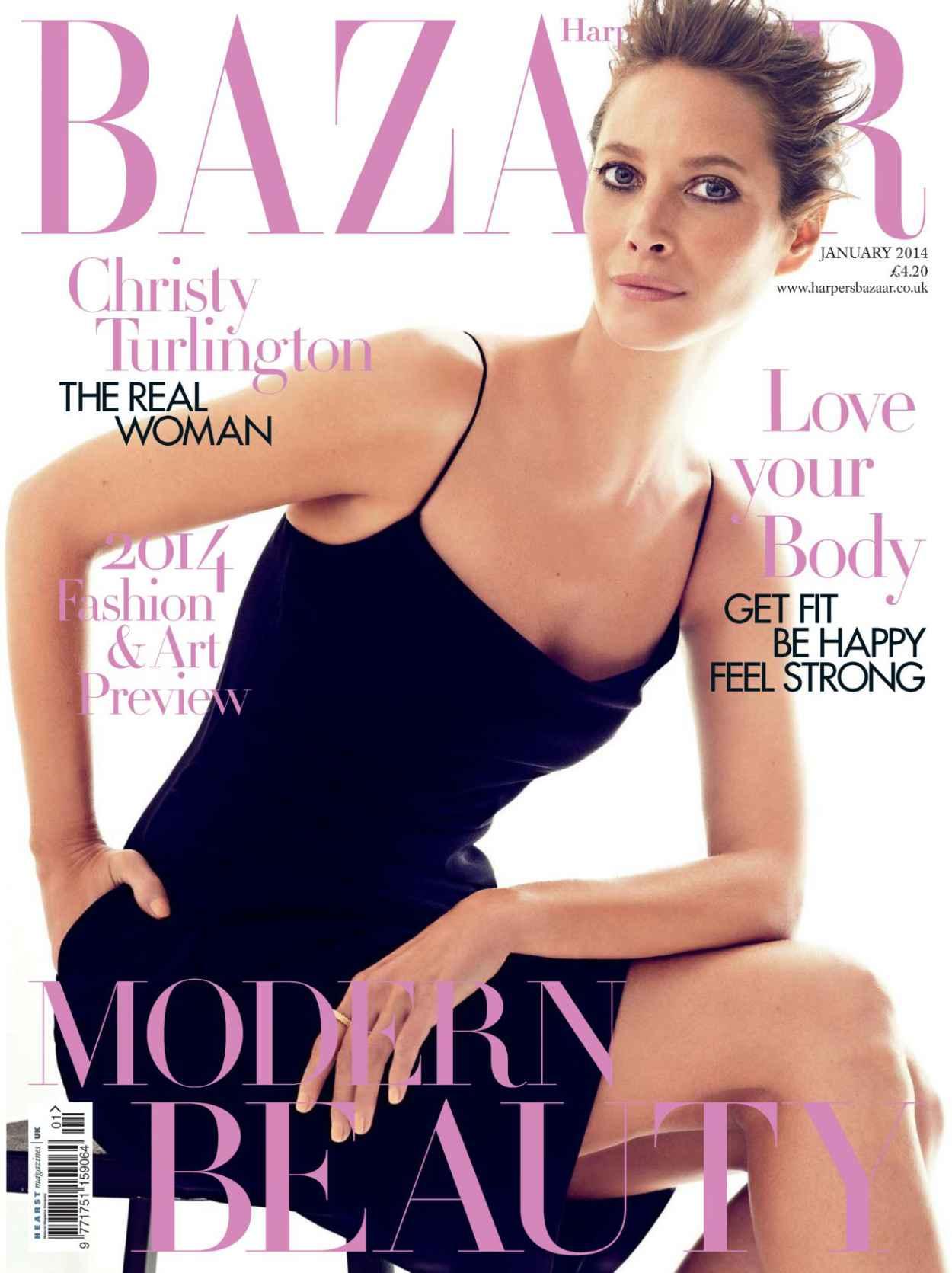 Christy Turlington - Harpers BAZAAR Magazine (UK) - January 2015 Issue-1