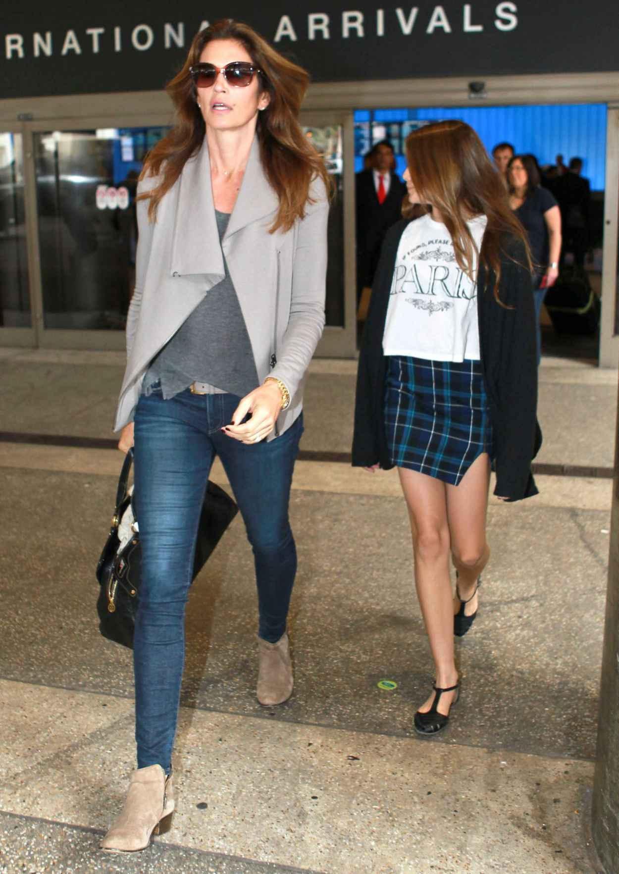 Cindy Crawford and Kaia Jordan Gerber at LAX Airport - May 2015-2