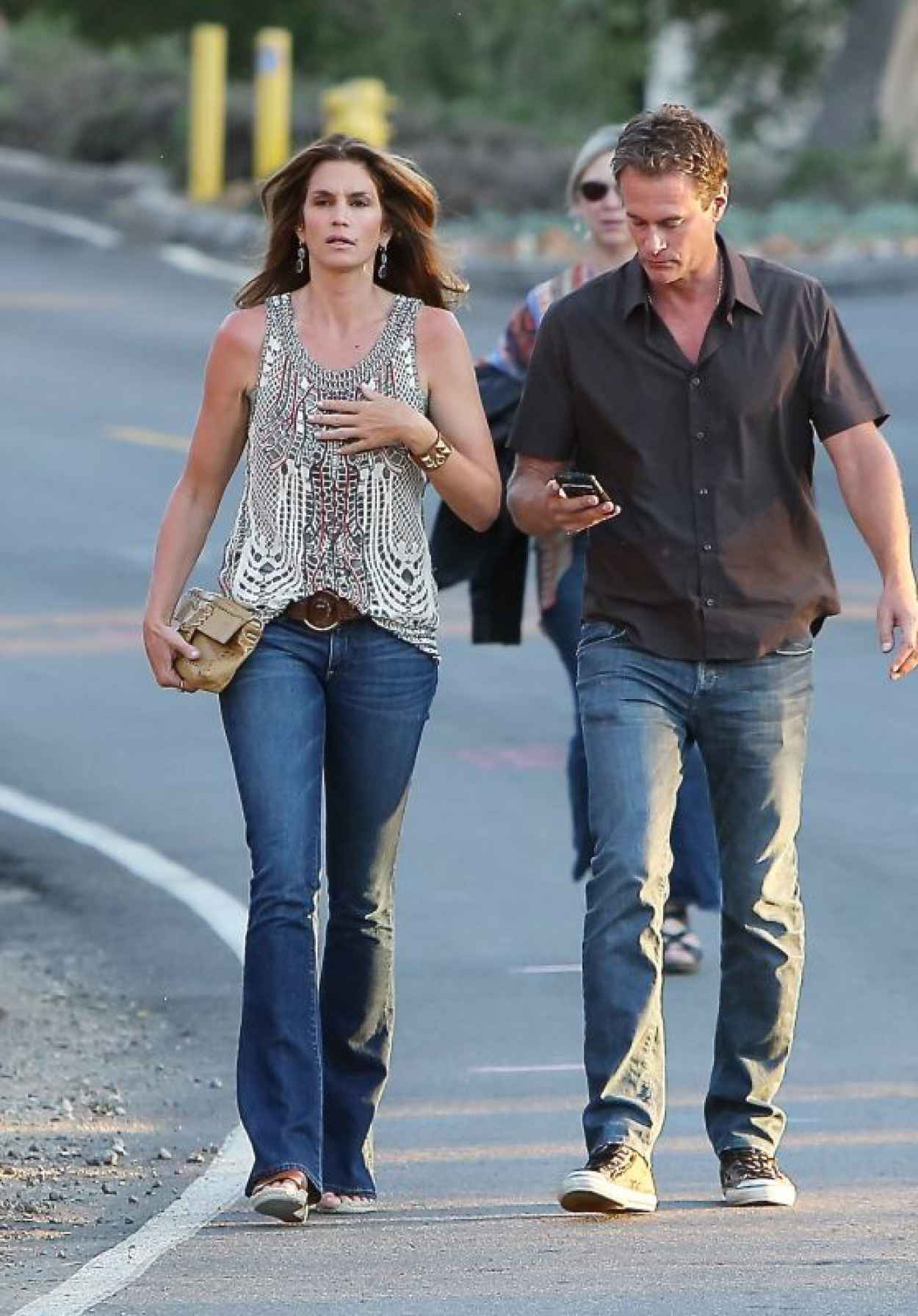 Cindy Crawford - Arriving at the Gregg Allman Concert at the Canyon Club in Agoura Hills-1