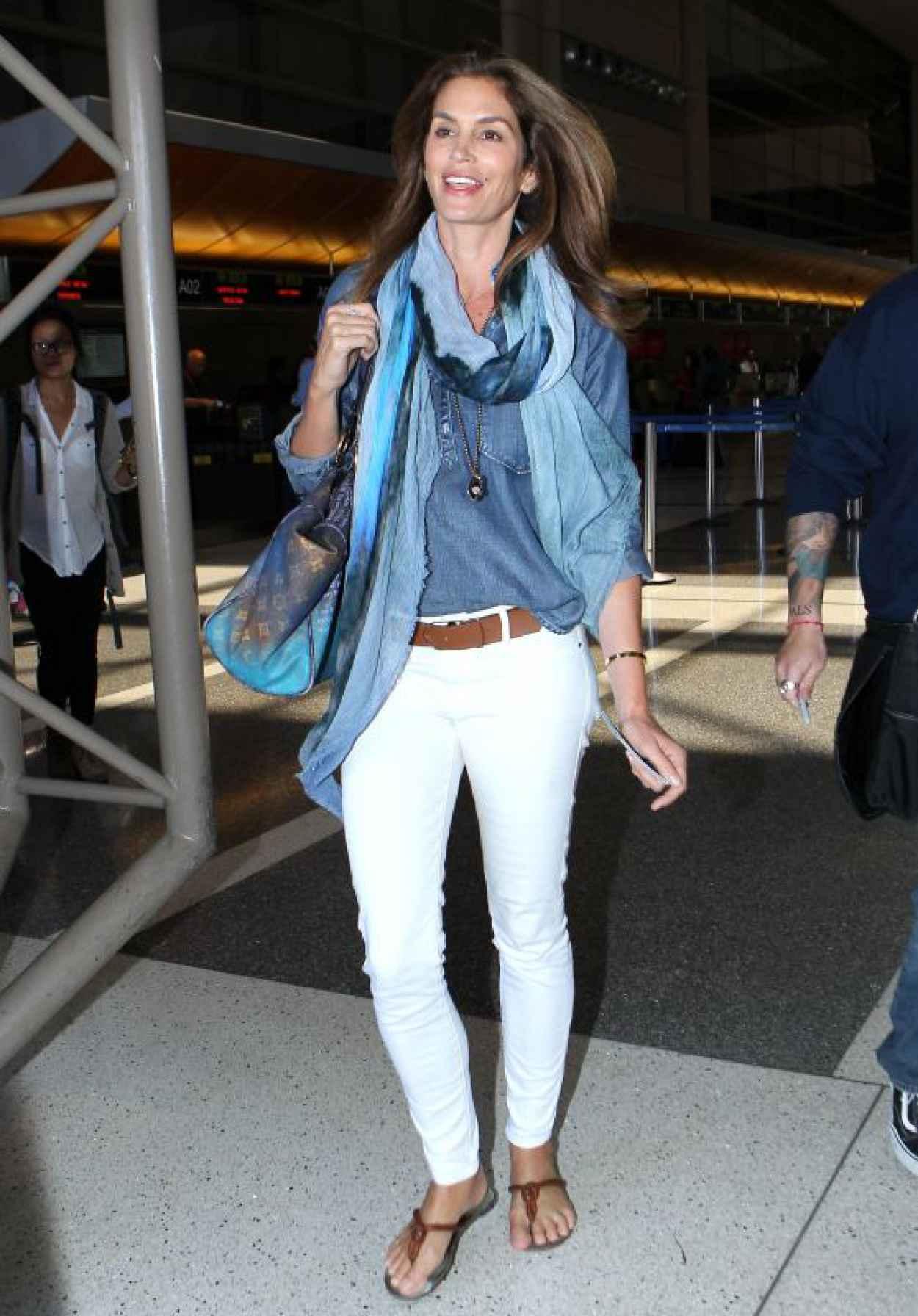 Cindy Crawford at LAX Airport, May 2015-1