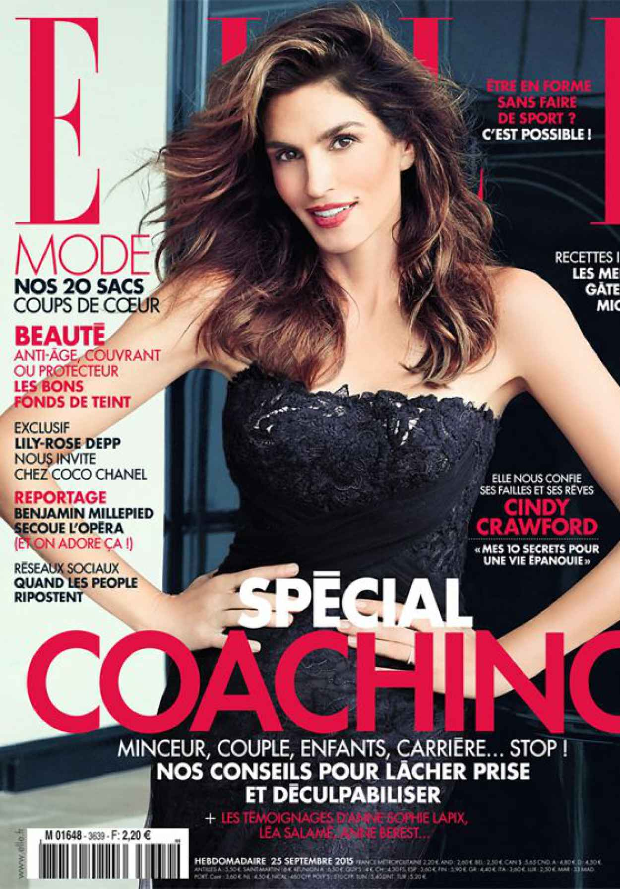 Cindy Crawford - ELLE Magazine France September 2015 Issue-1