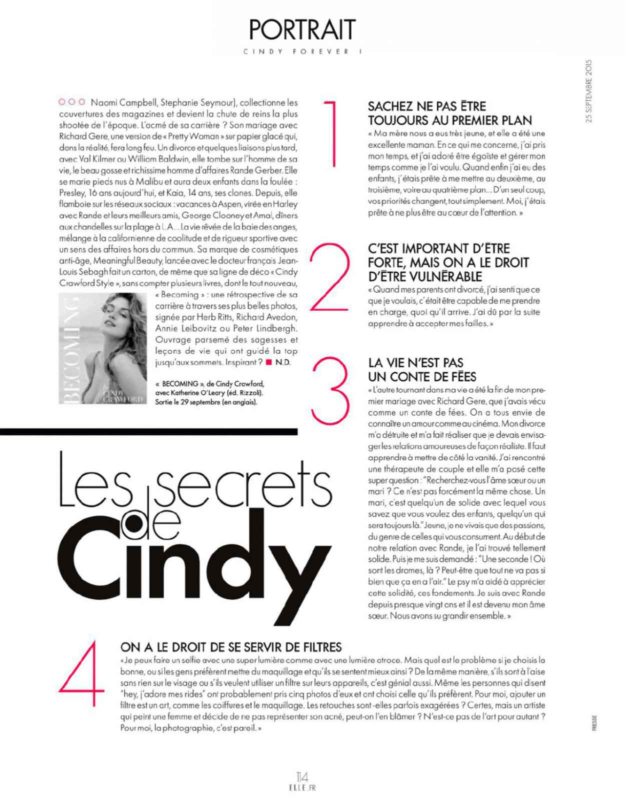 Cindy Crawford - ELLE Magazine France September 2015 Issue-4