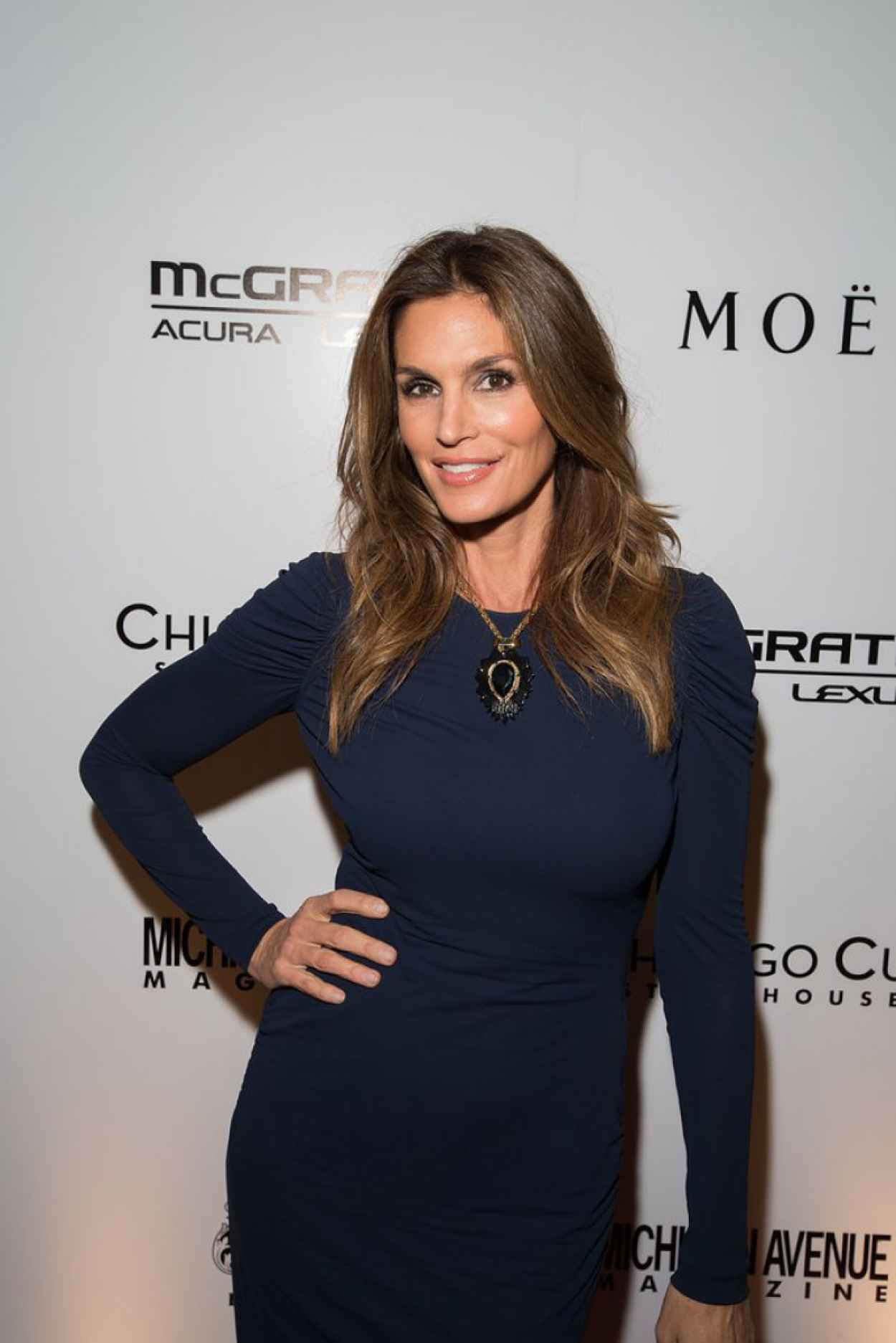 Cindy Crawford - Michigan Ave Magazines November 2015 Issue Release Celebration in Chicago-1