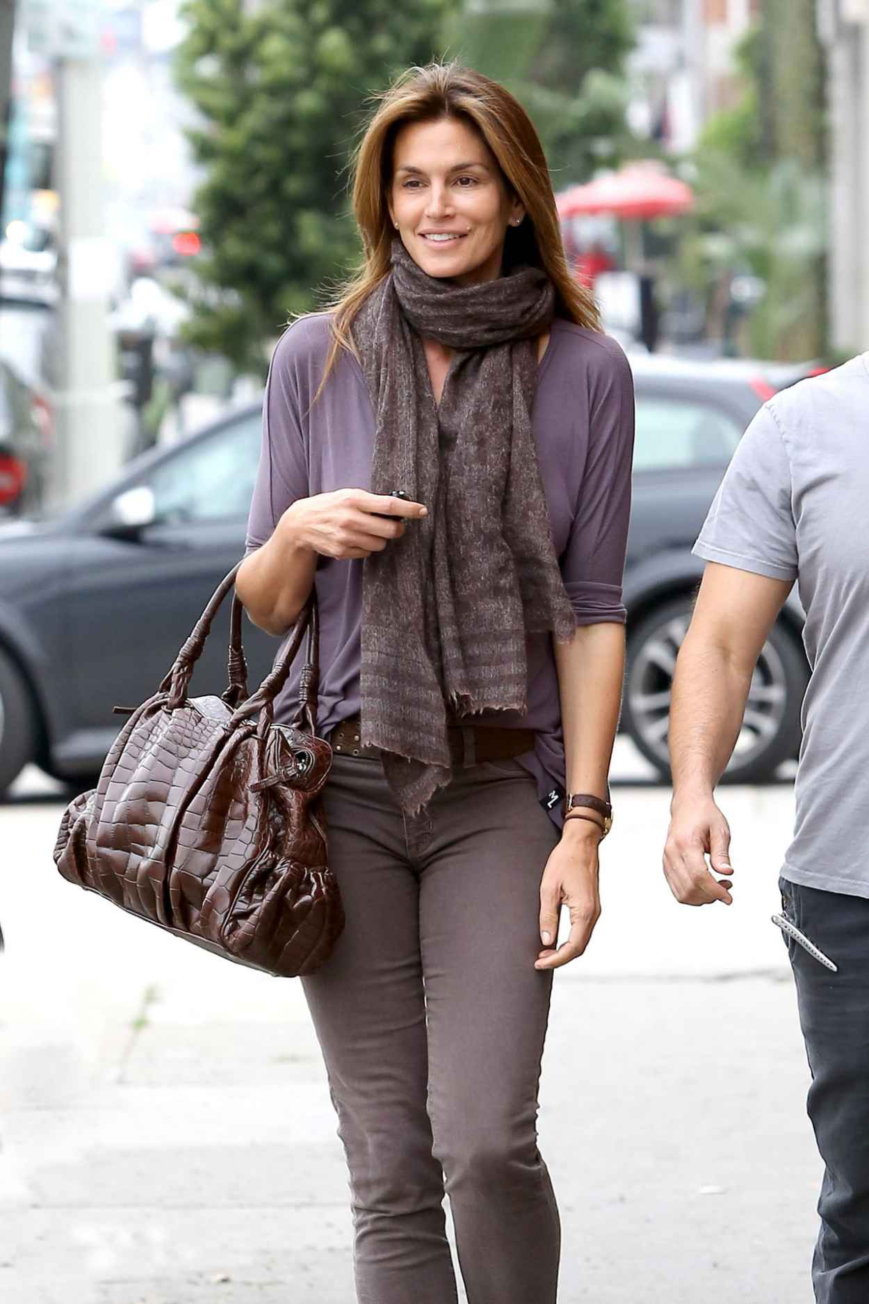 Cindy Crawford Street Style - Out in Beverly Hills, February 2015-1